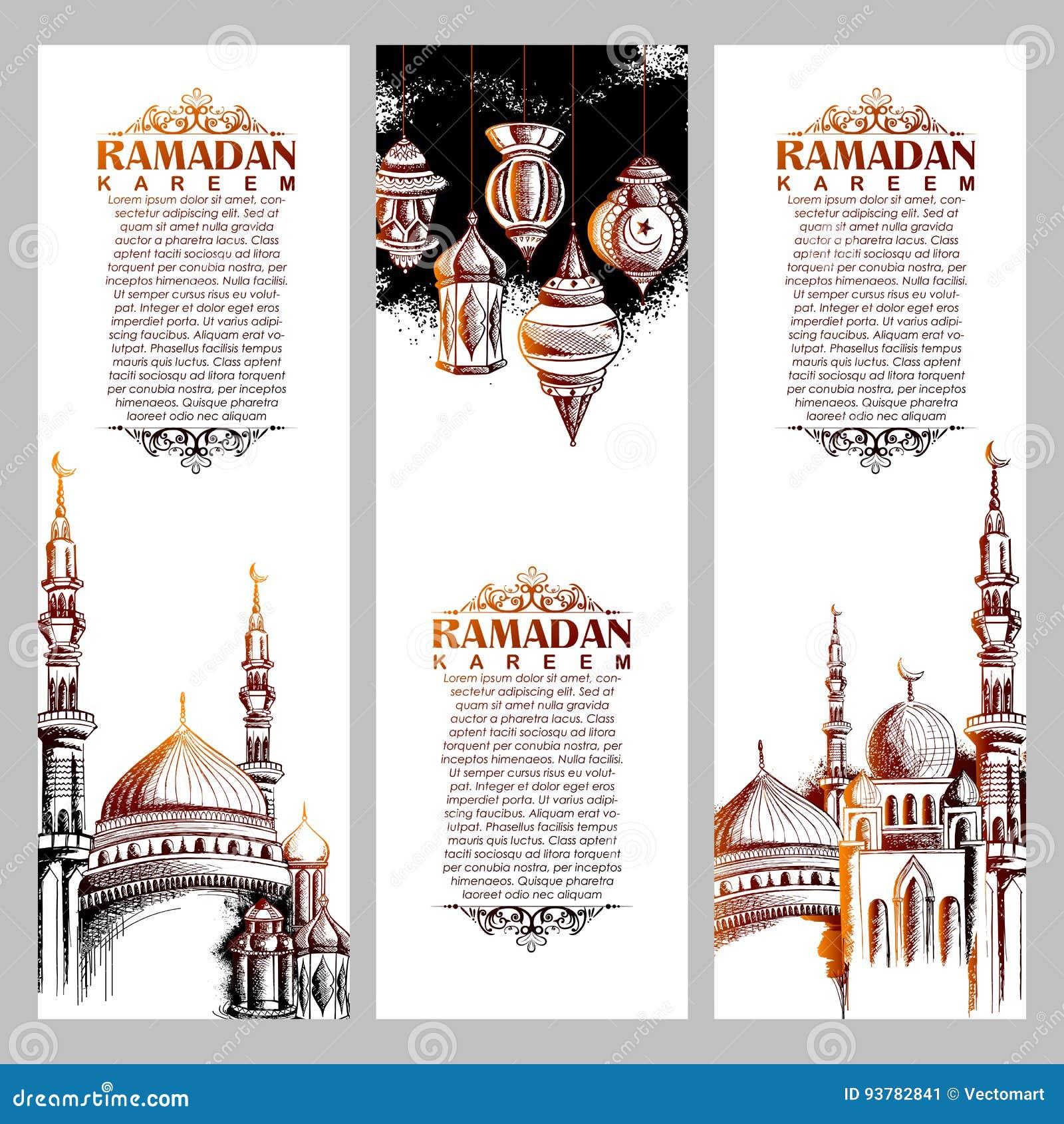 Ramadan kareem generous ramadan greetings in arabic freehand with ramadan kareem generous ramadan greetings in arabic freehand with mosque kristyandbryce Images