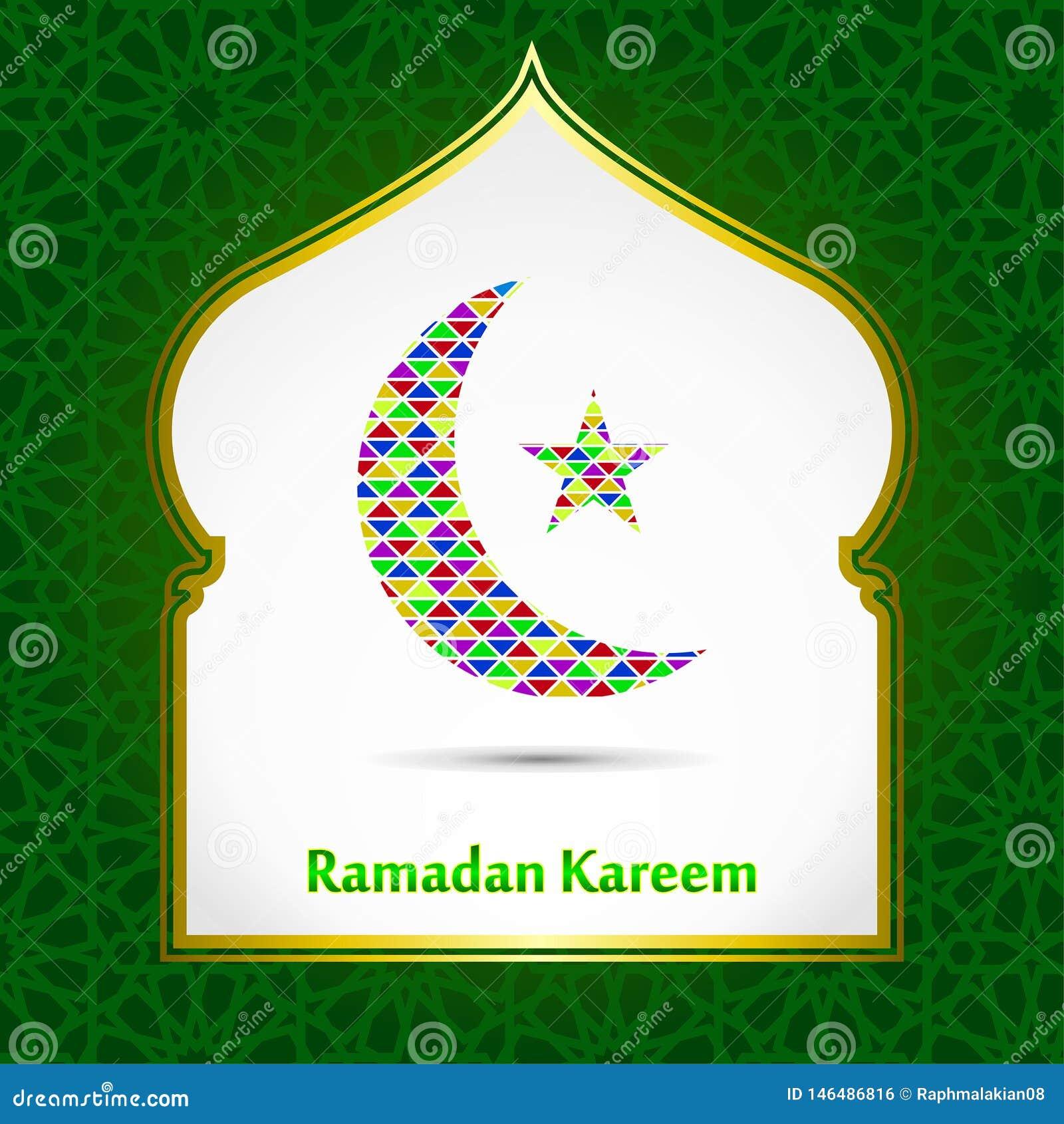 Ramadan Kareem Green Background Ramadan-Schablone