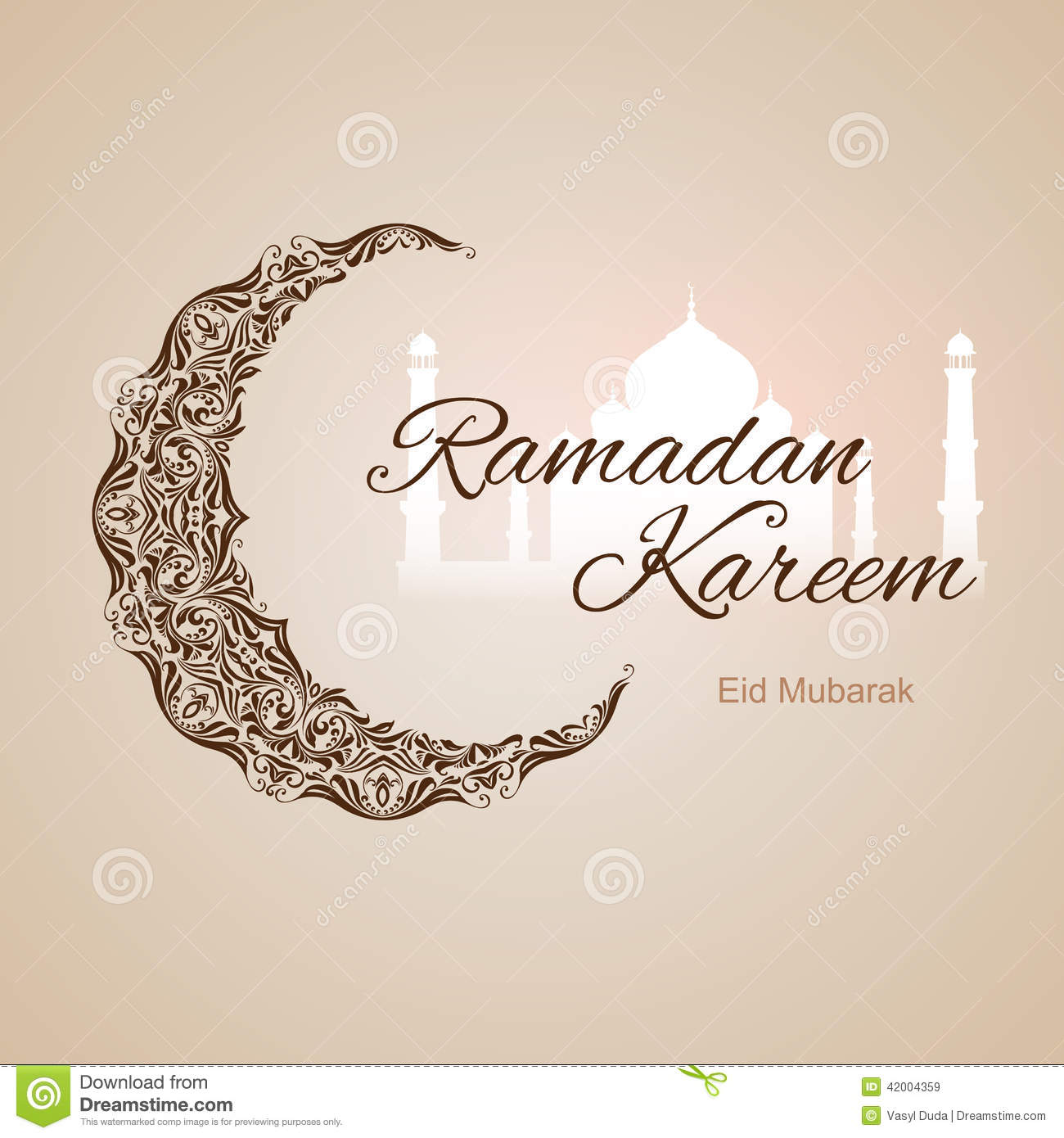 Ramadan Kareem Greeting Card Stock Illustration Illustration Of