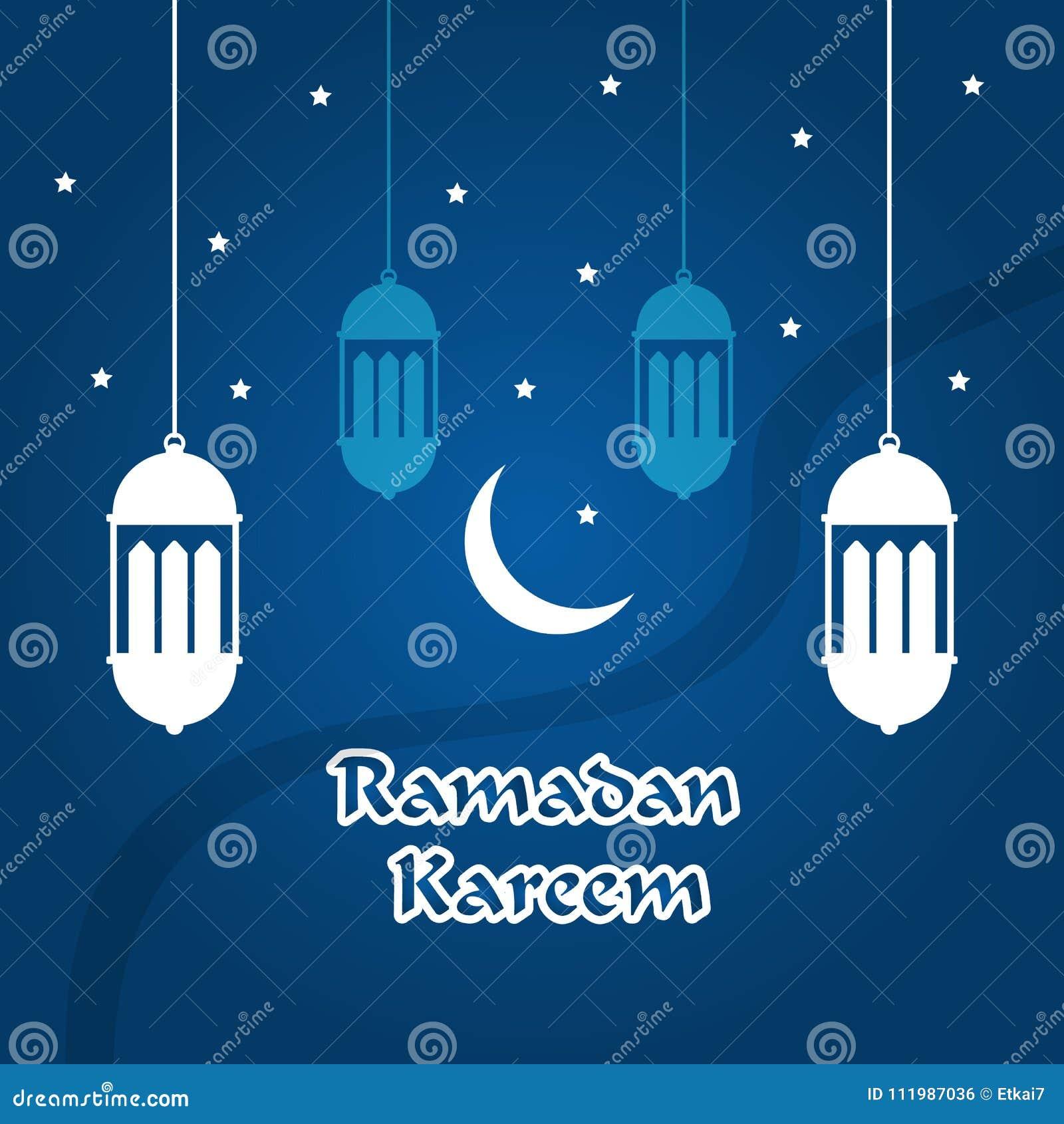Ramadan Kareem Greeting Card With Islamic Ornaments And Candle V