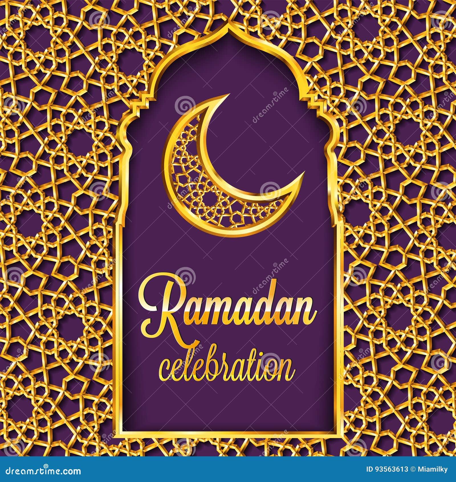 Ramadan Kareem-Grußkarte mit traditionellem islamischem Muster, Einladung oder Broschüre in der Ostart