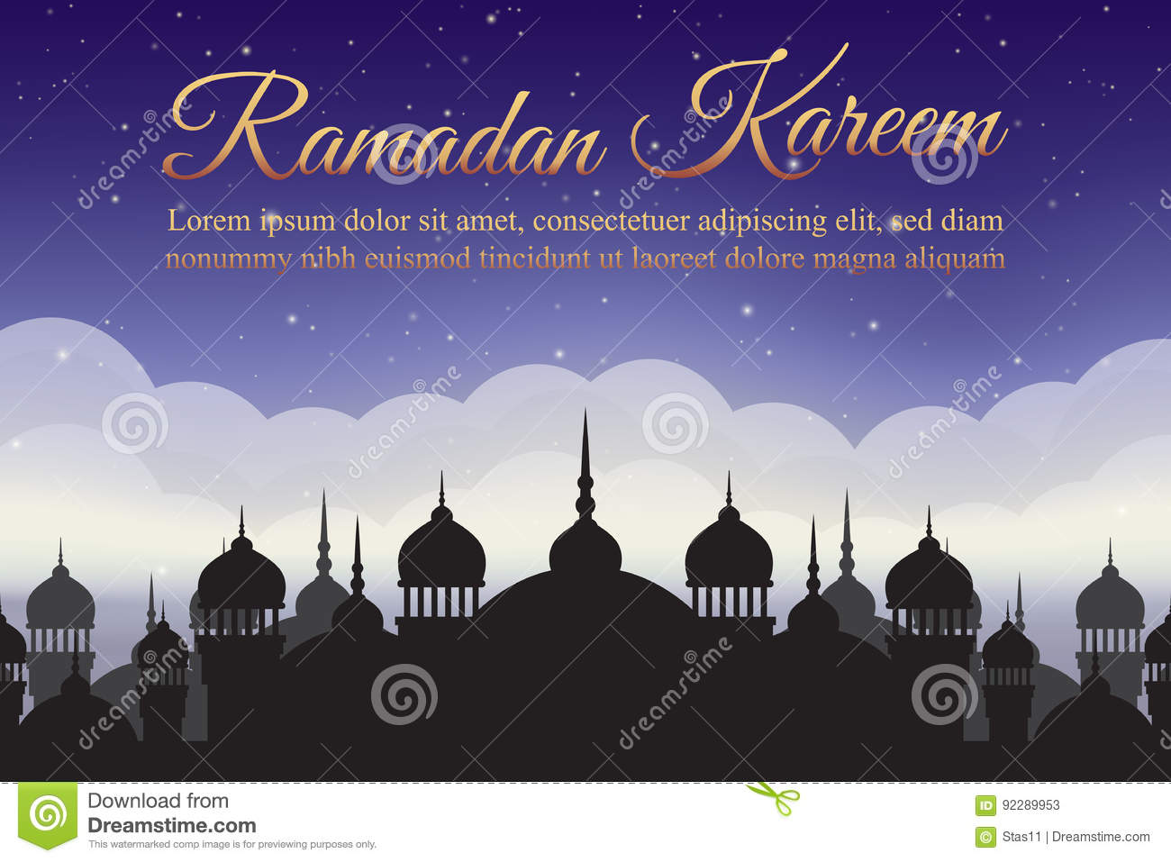 Mosque background for ramadan kareem stock photography image - Ramadan Kareem Night Sky With Mosque Silhouette And Clouds Arabic Background Stock Photos