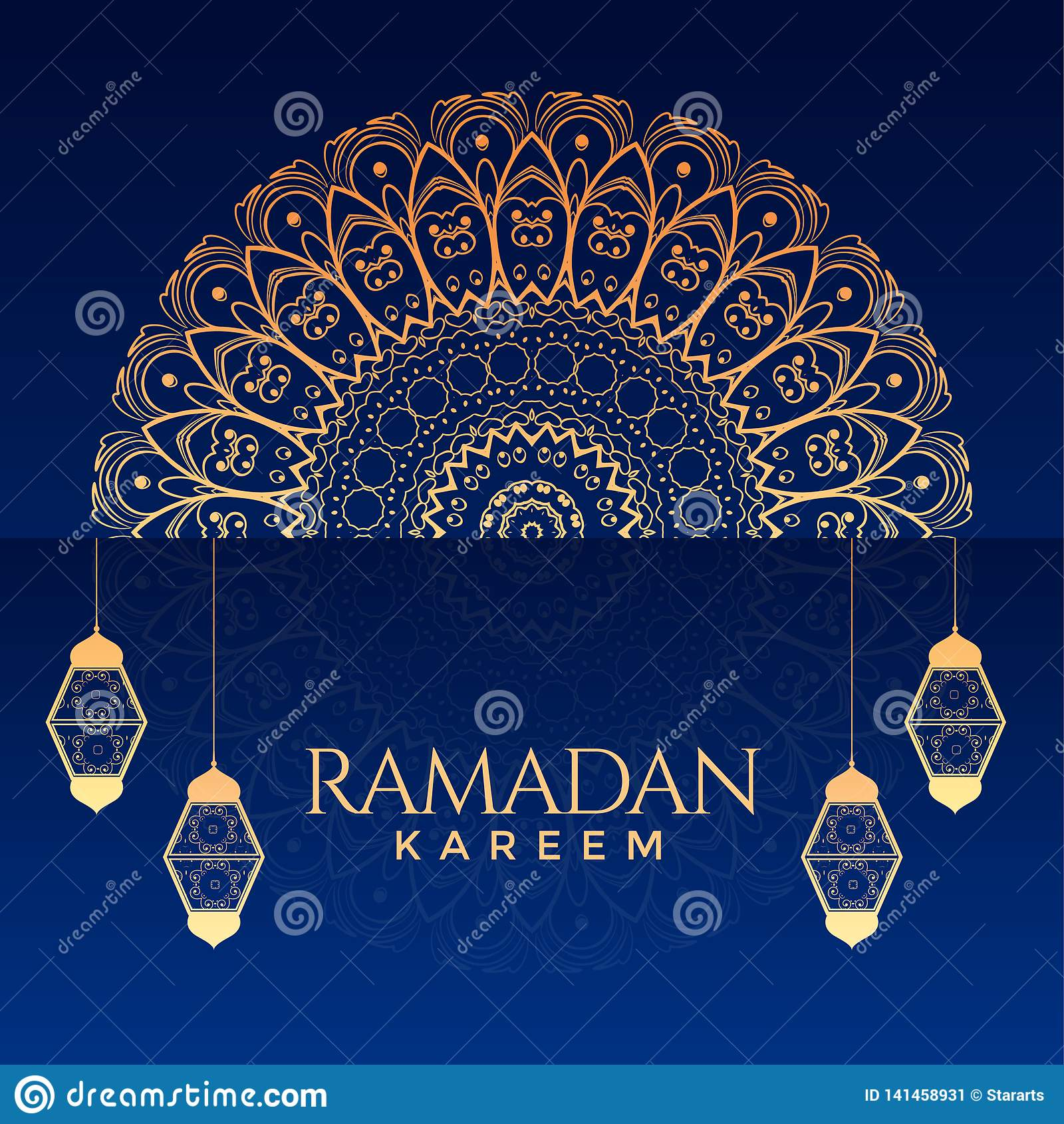 Ramadan kareem ornamentacyjny dekoracyjny tło