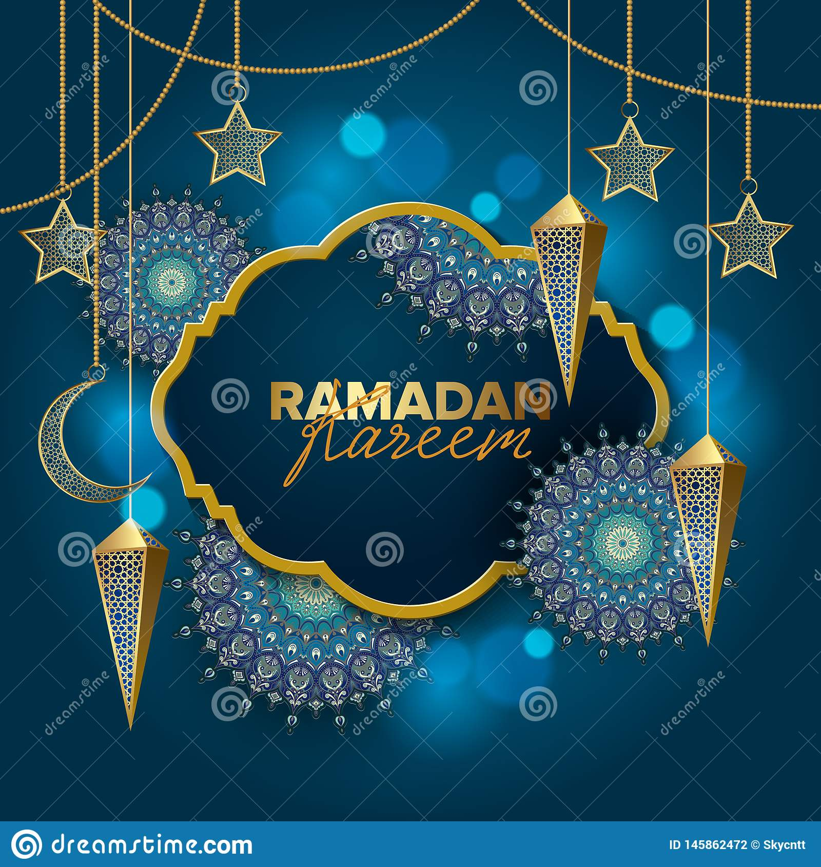 Ramadan Kareem poj?cia sztandaru wektoru wakacyjna ilustracja