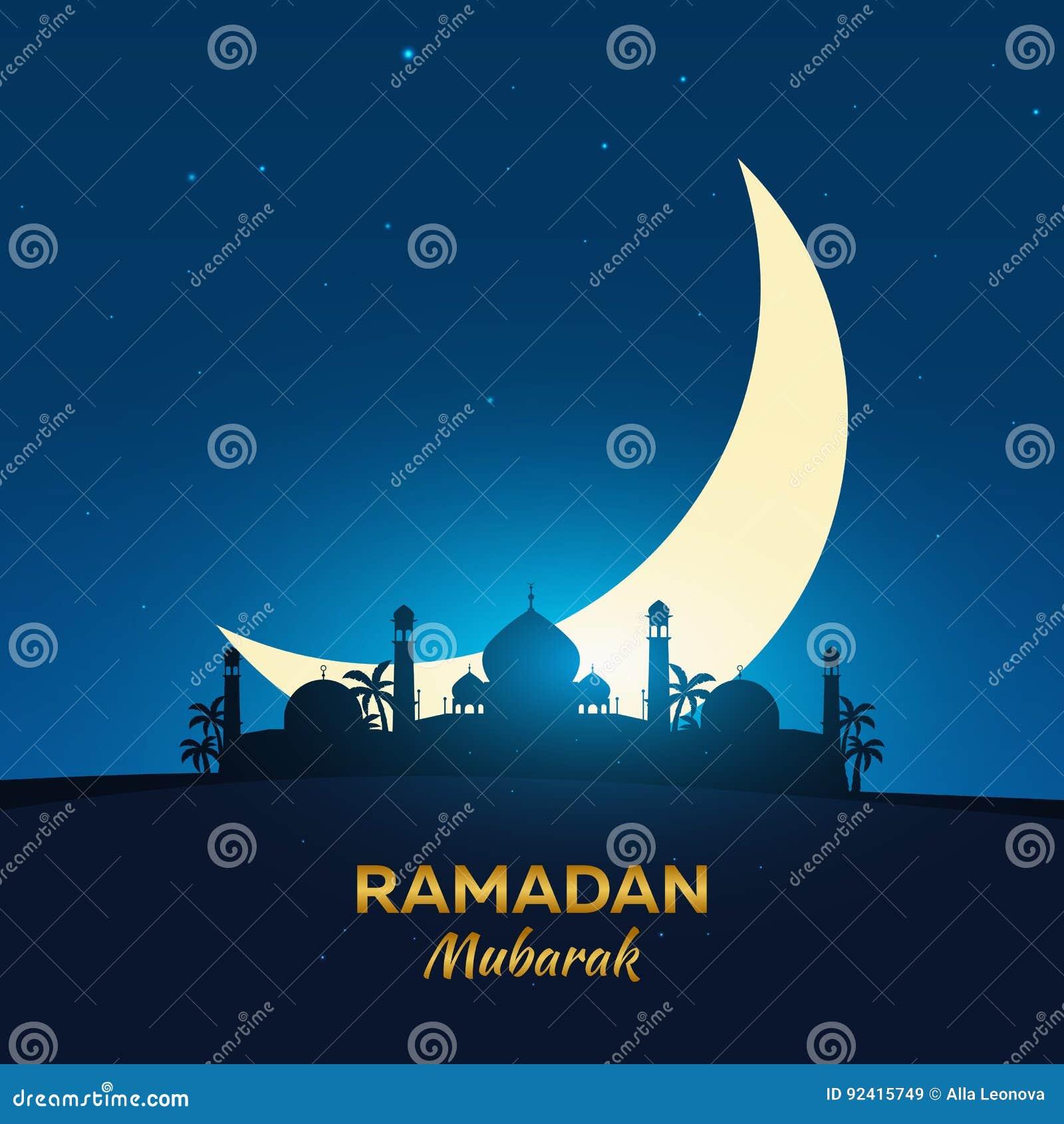 Ramadan kareem ramadan mubarak greeting card arabian night with download ramadan kareem ramadan mubarak greeting card arabian night with crescent moon m4hsunfo