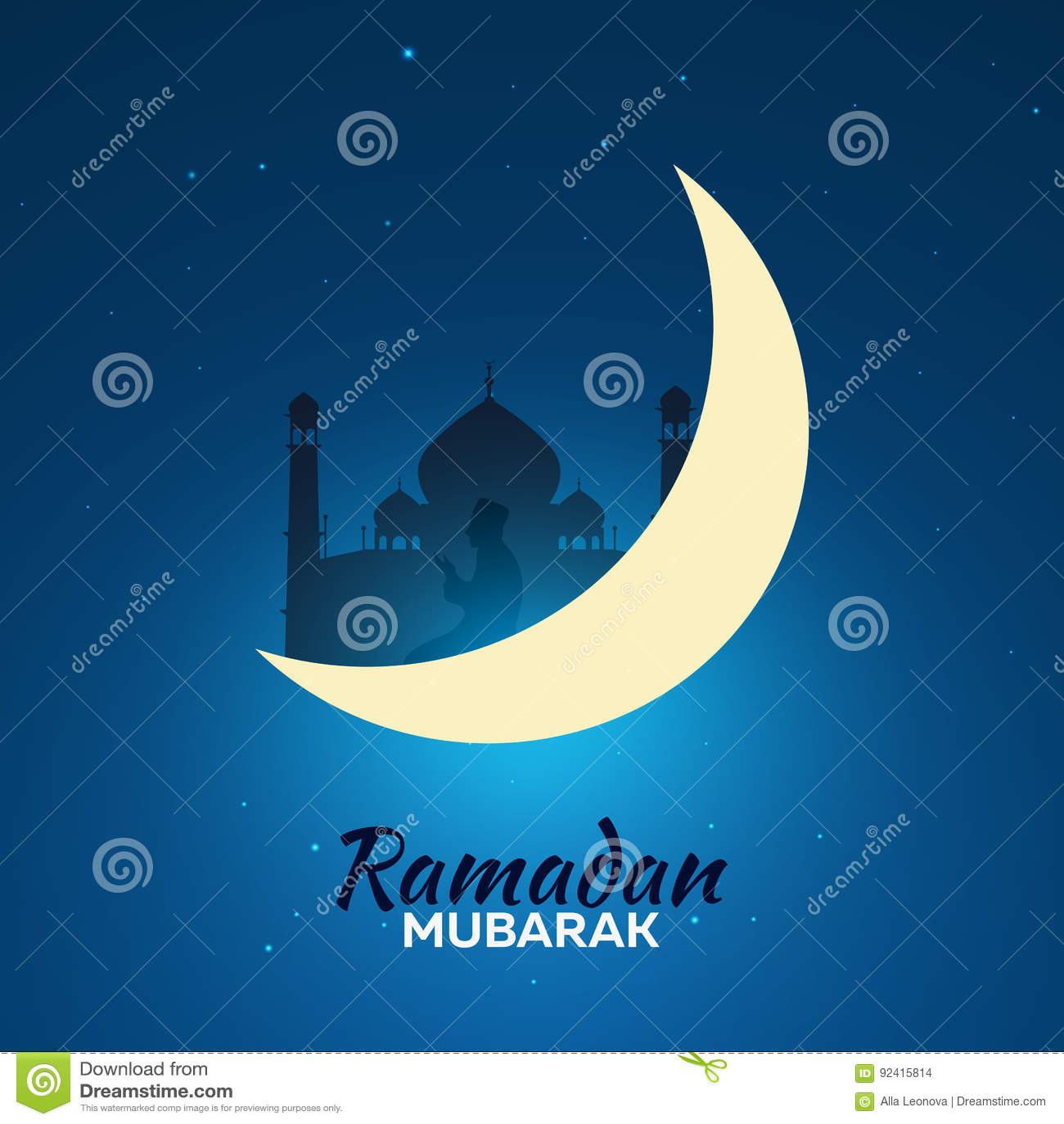 Ramadan Kareem Ramadan Mubarak Greeting Card Arabian Night With