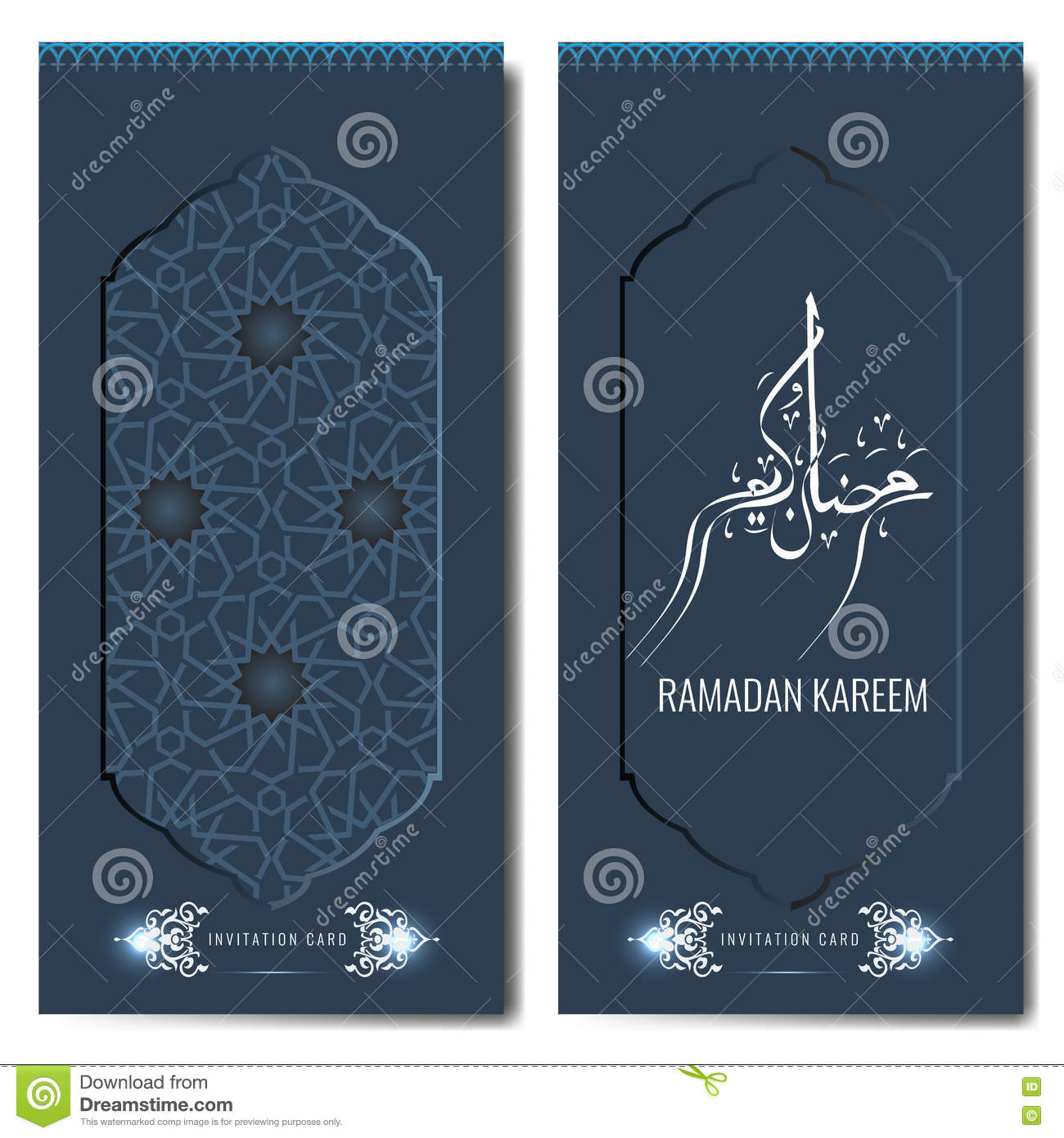 Ramadan Kareem Salutation Islamique Ou Calibre De Carte D Invitation