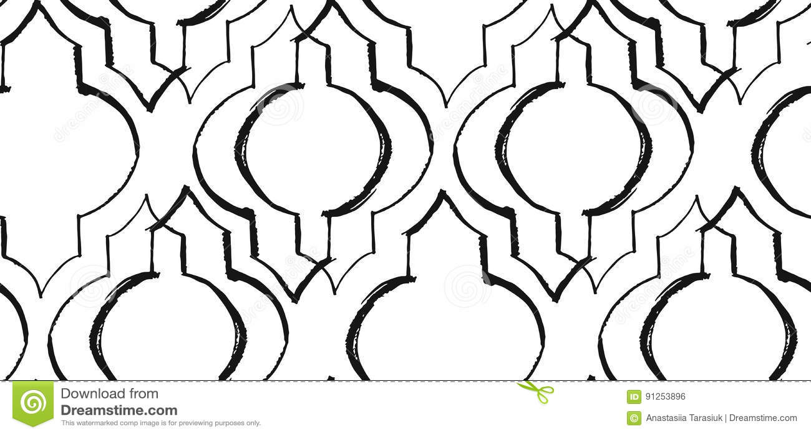 Ramadan Kareem textured wektorowy bezszwowy wzór z nowożytnym lampionem dla Ramadan projekta i życzyć szczególnie Ręcznie Robiony