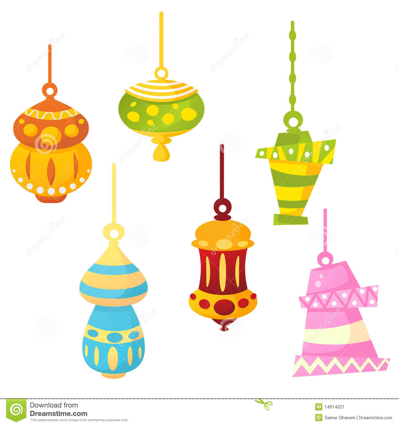 Ramadan Lamps Stock Vector Image Of Funny Fasting
