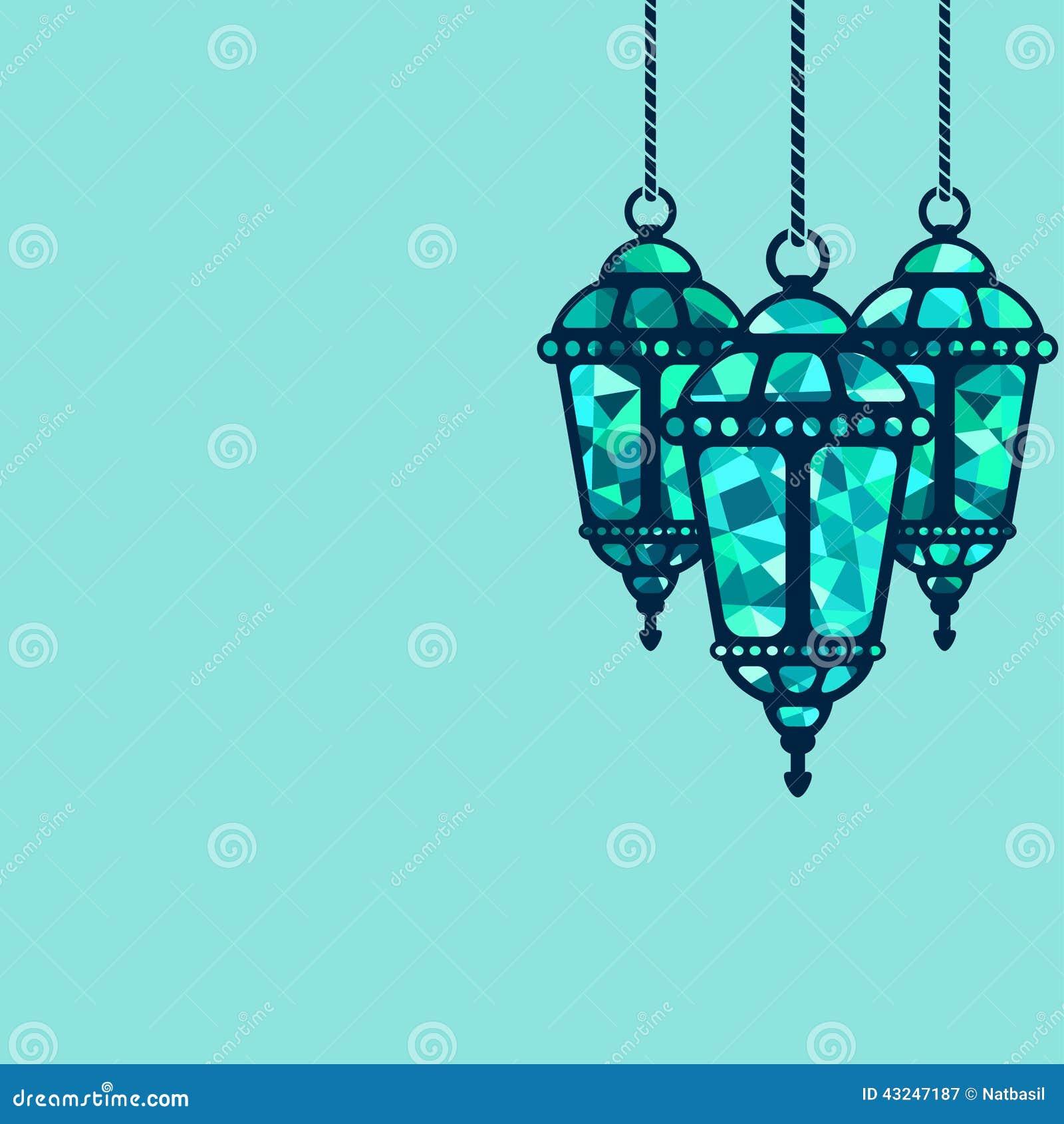 ramadan lantern background stock vector  illustration of