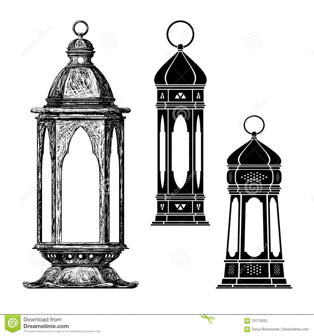 Ramadan lantern , fanous stock vector. Illustration of isolated ... for Ramadan Lamp Drawing  177nar
