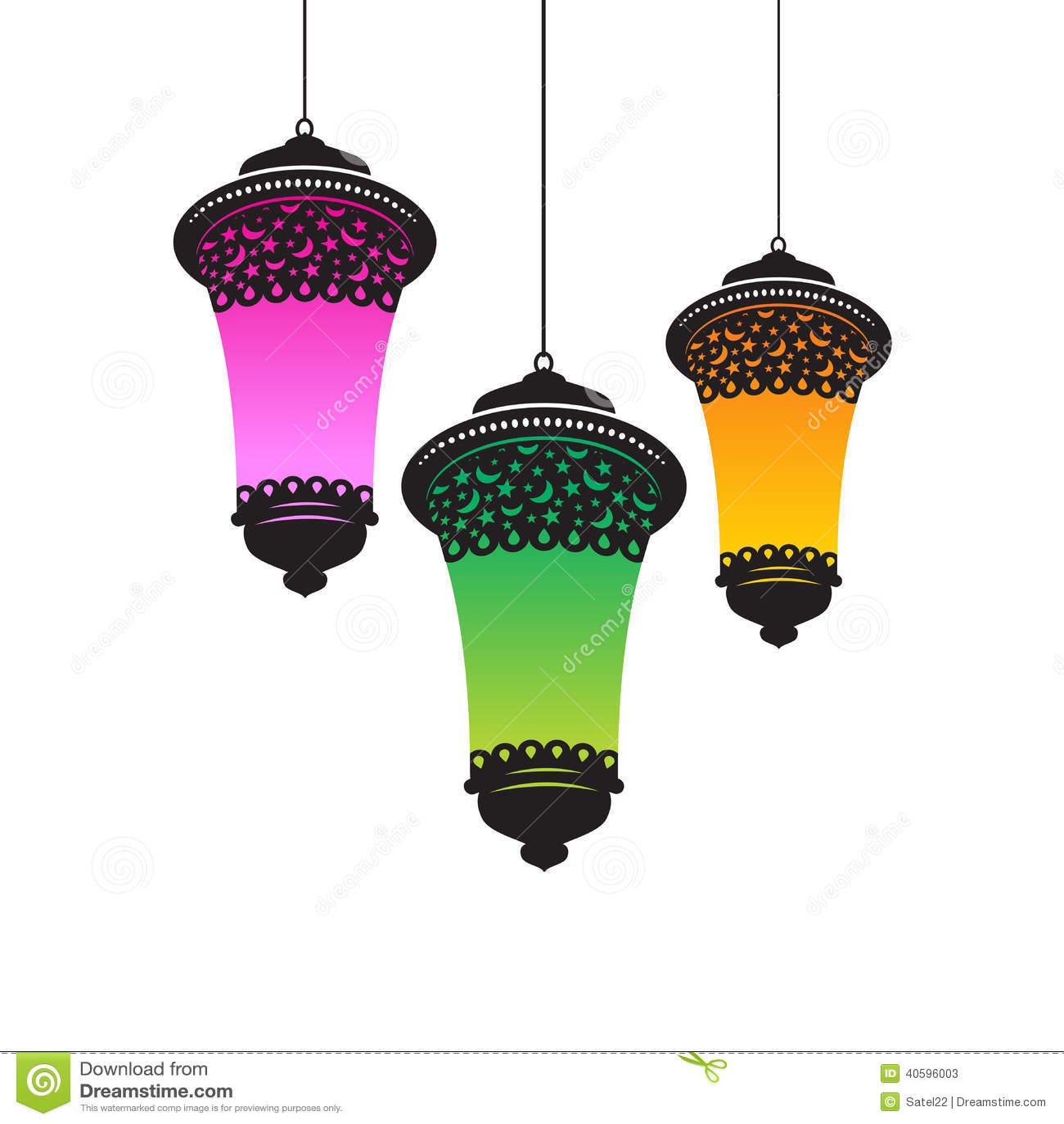 Ramadan lights stock vector. Illustration of dangler - 40596003 for Islamic Lantern Png  5lp5wja