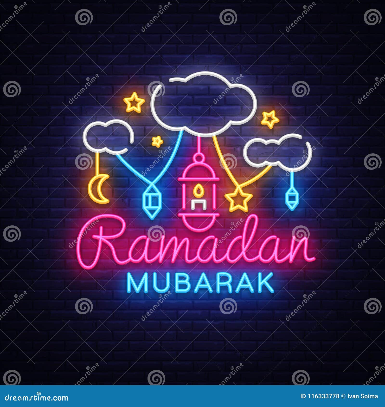 Ramadan mubarak greeting card vector ramadan mubarak neon sign download ramadan mubarak greeting card vector ramadan mubarak neon sign neon banner month m4hsunfo