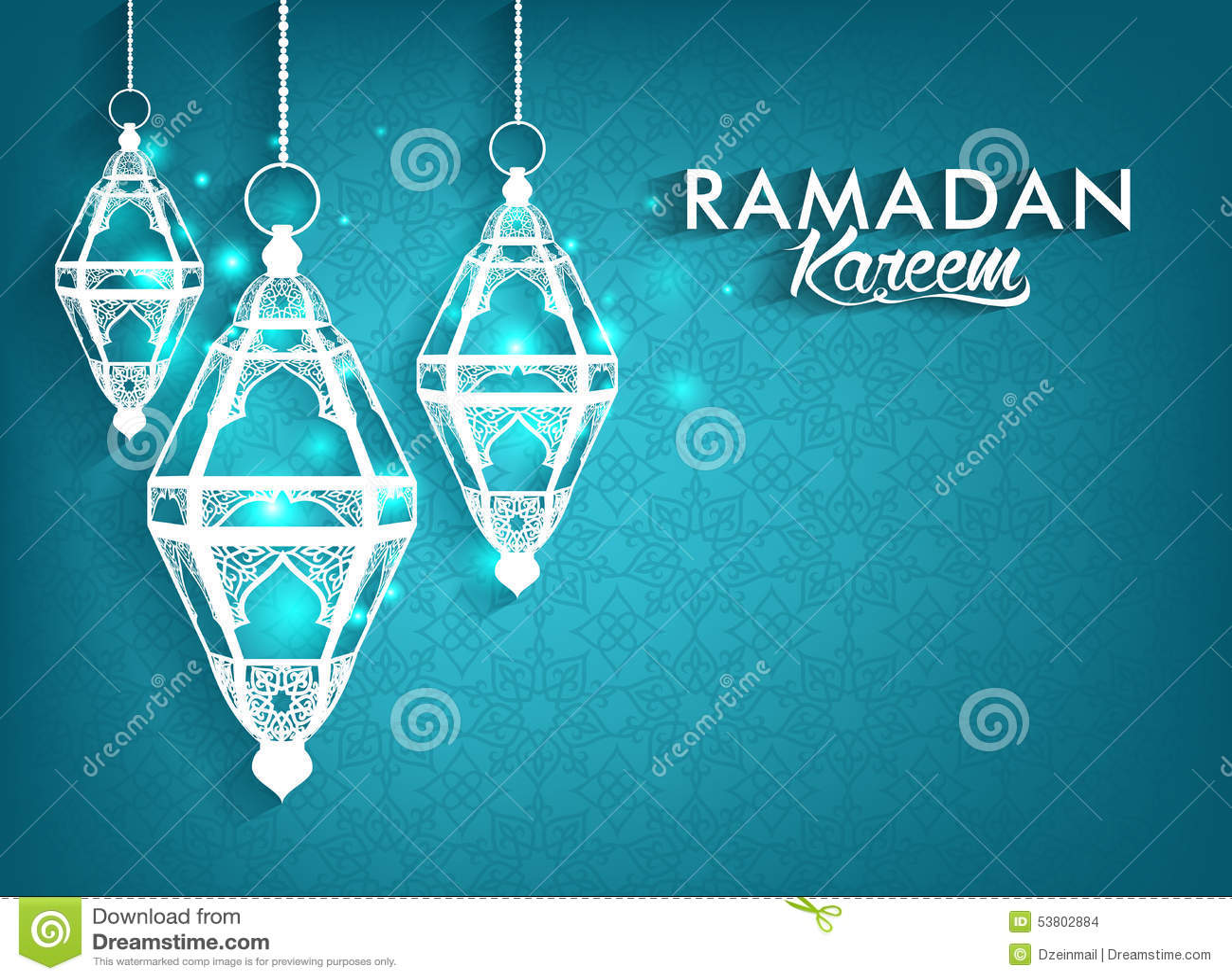 Ramadan Mubarak Lanterns elegante hermoso