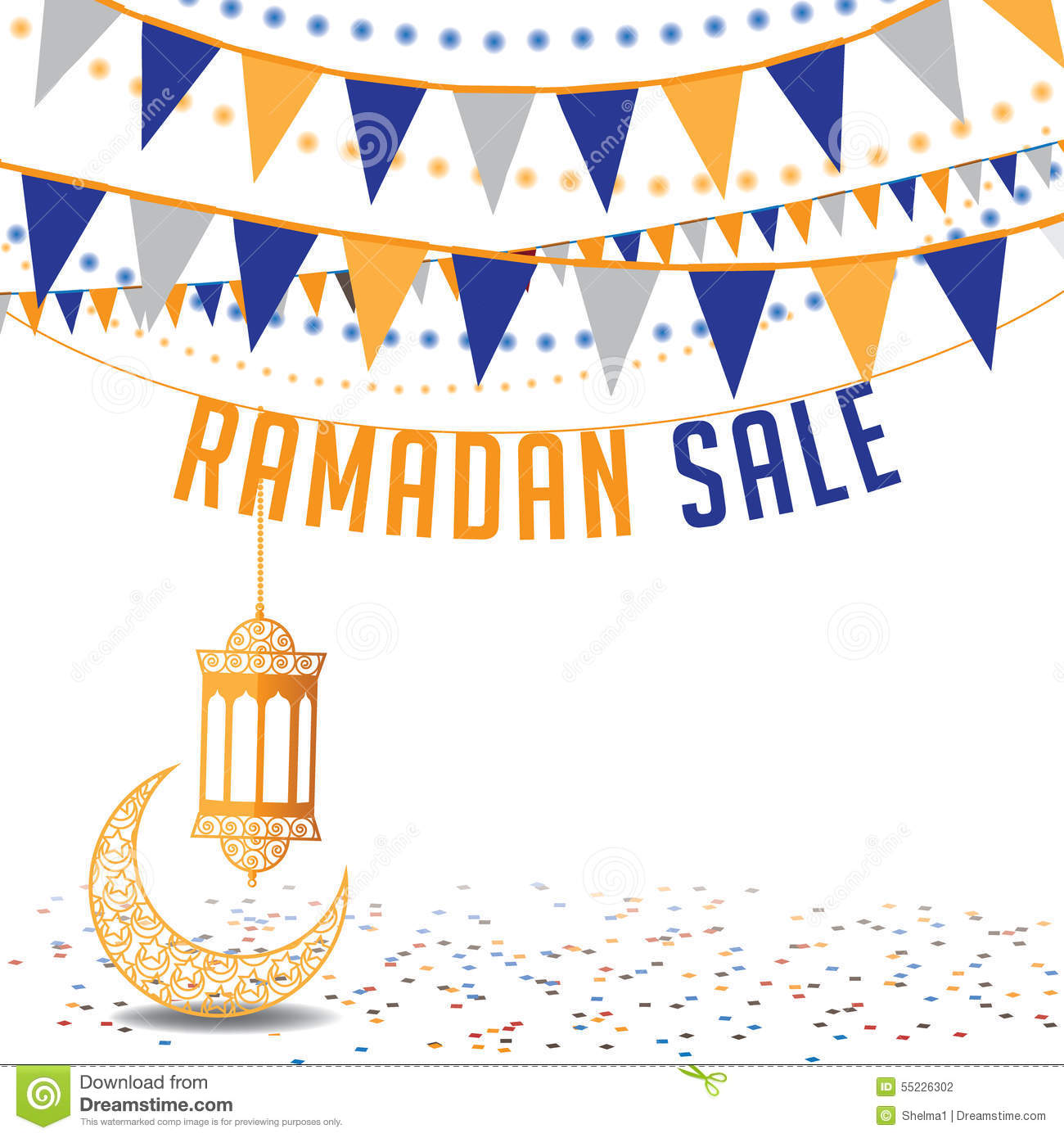 Template Greeting Card Royalty Free Stock Image: Ramadan Sale Background Ad Template Stock Vector