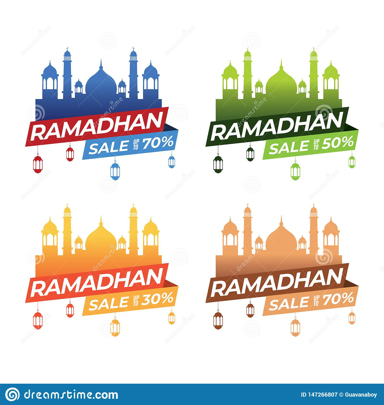 Ramadanbaneruppsättningar