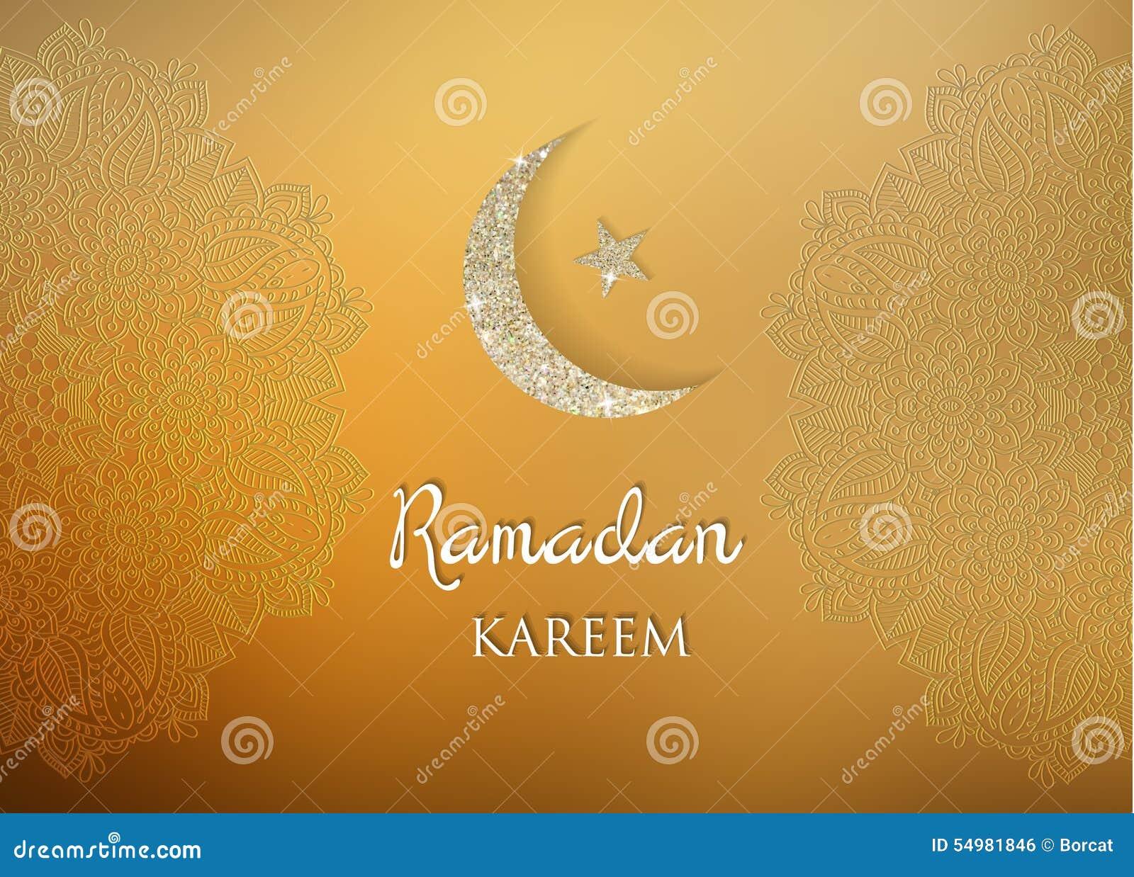Ramadanhälsningsbakgrund Ramadan Kareem betyder Ramadan den generösa månaden