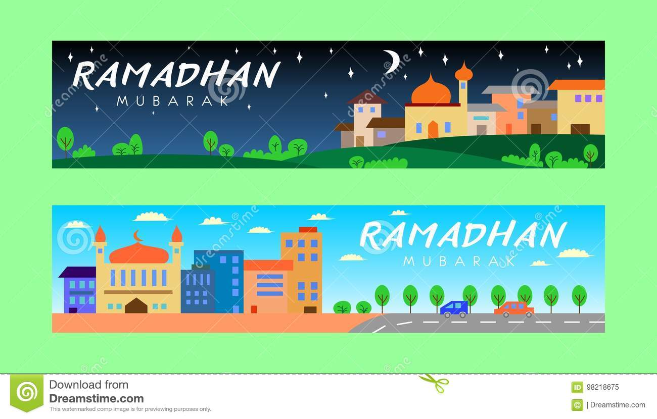 Ramadhan Banner Night and Day