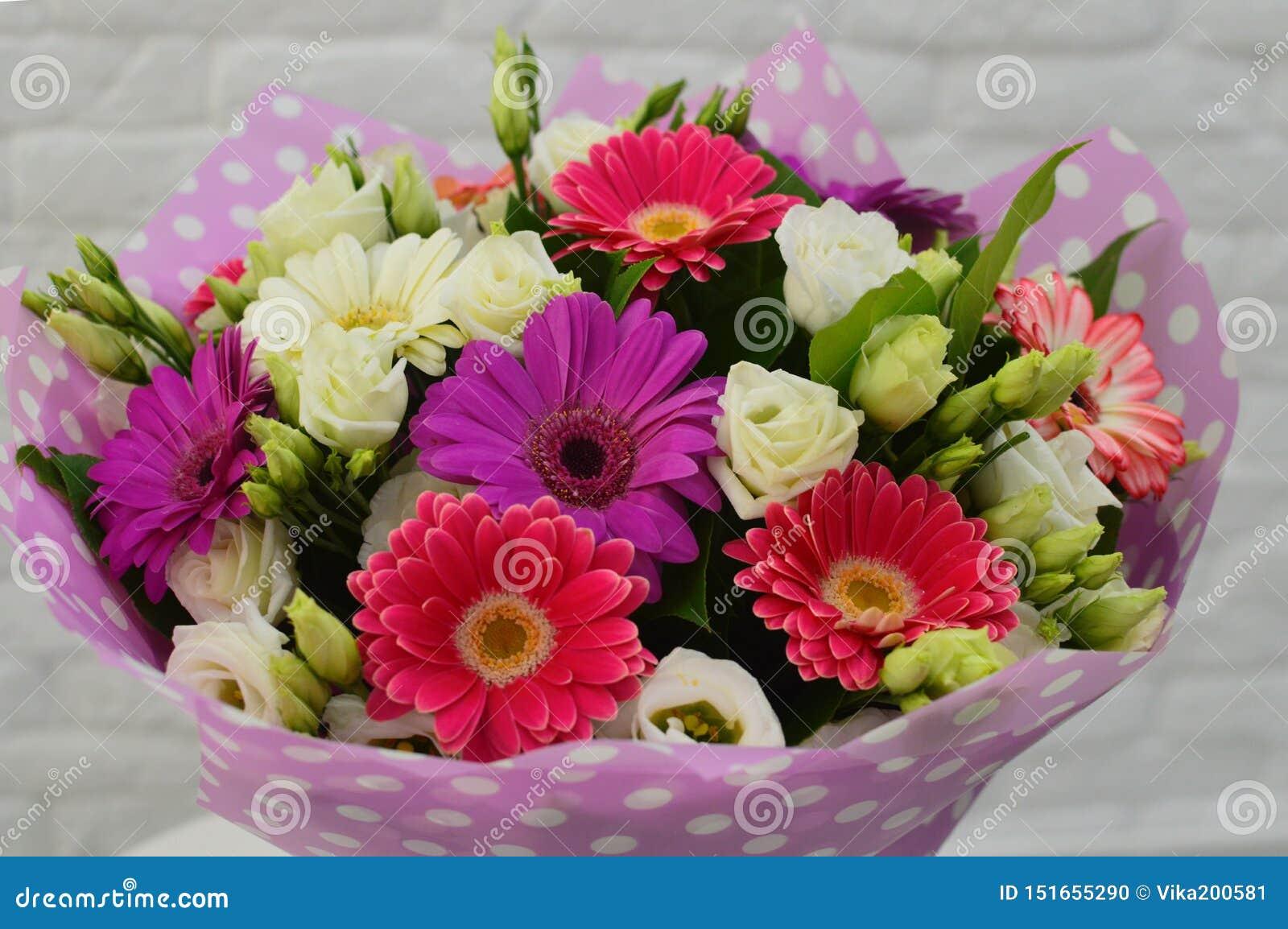 Ramalhete bonito de flores coloridas