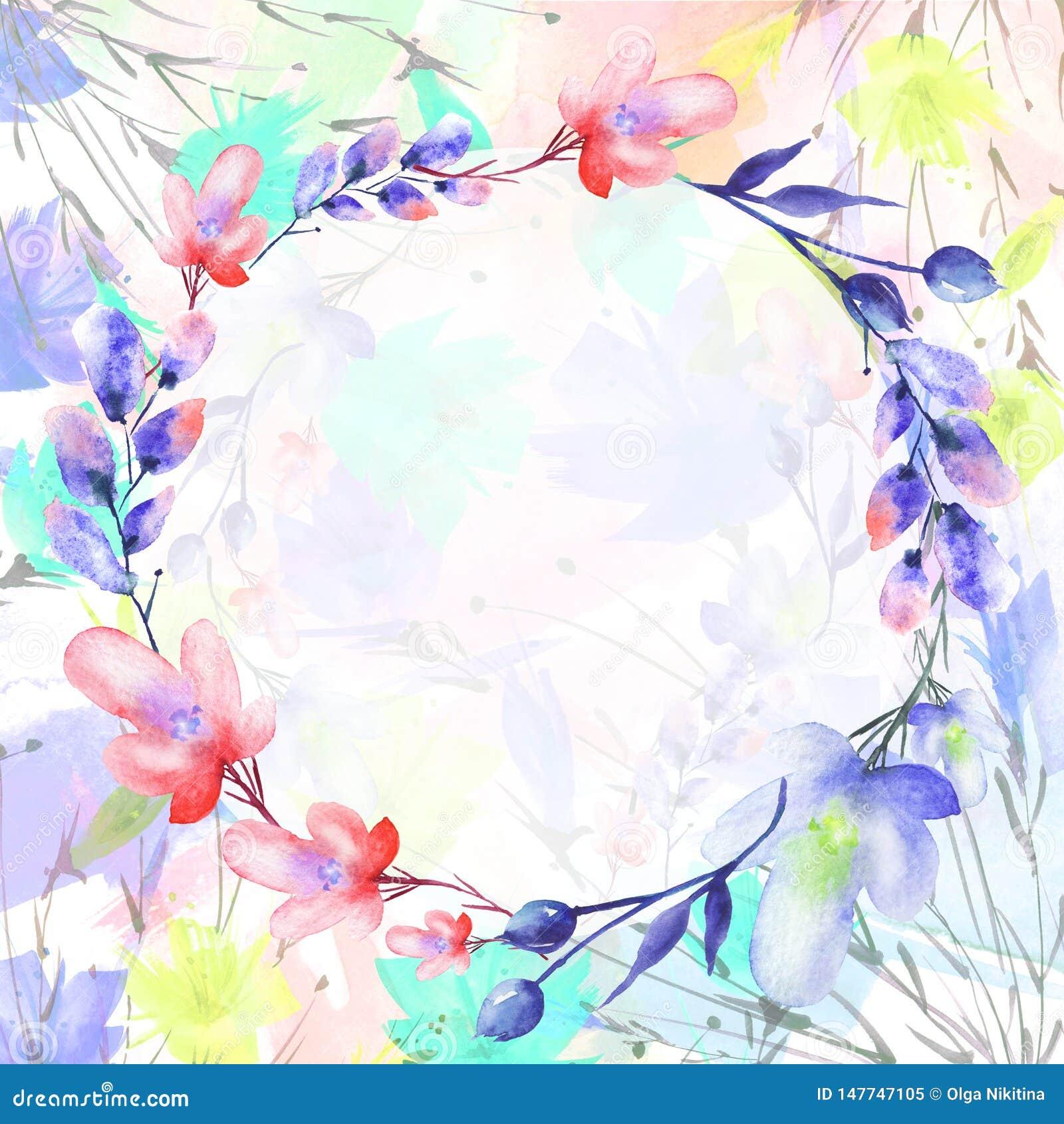 Ramalhete da aquarela das flores