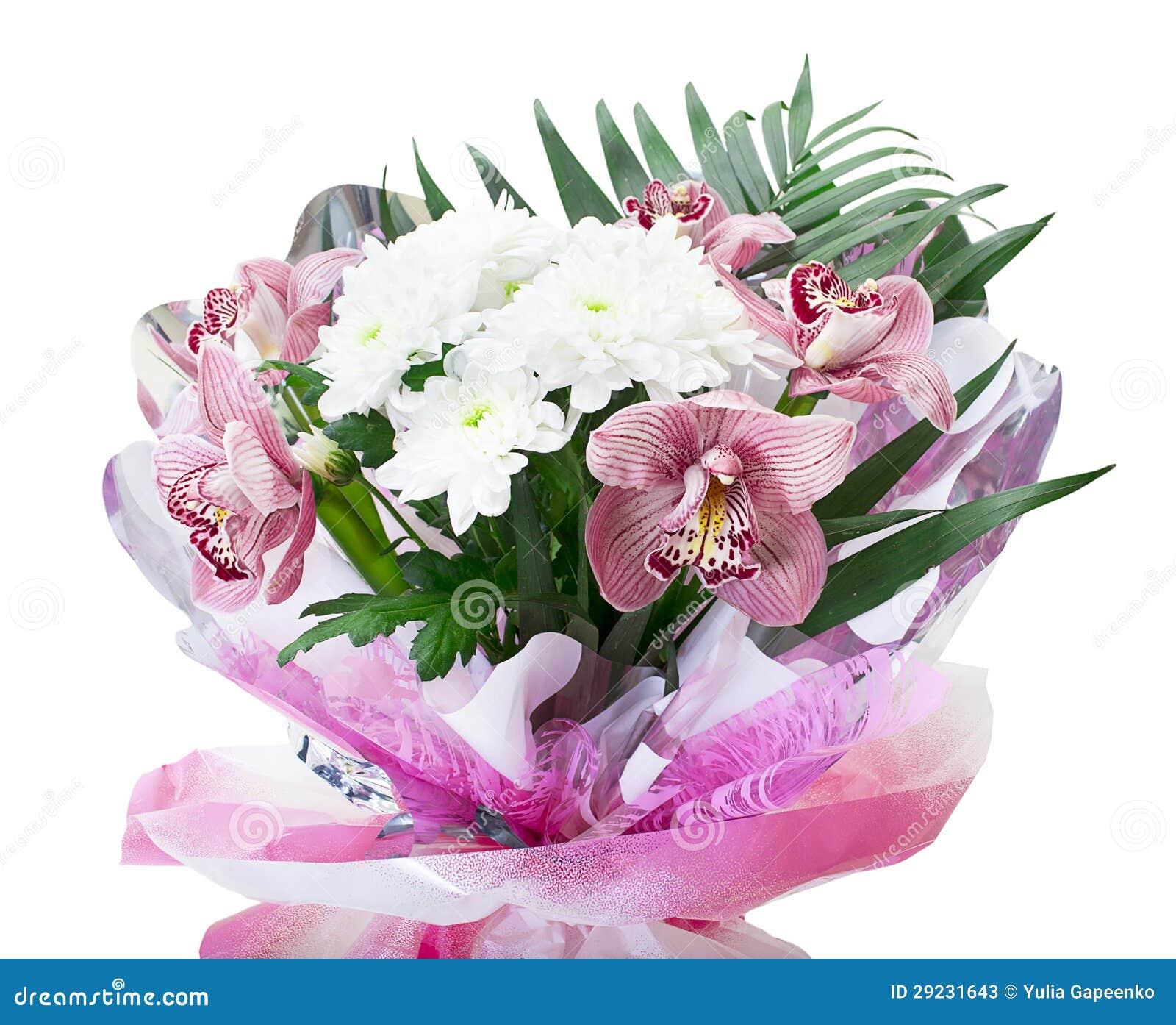 Download Ramalhete Das Orquídeas E Dos Crisântemos Isolados Sobre Imagem de Stock - Imagem de bridal, chrysanthemum: 29231643