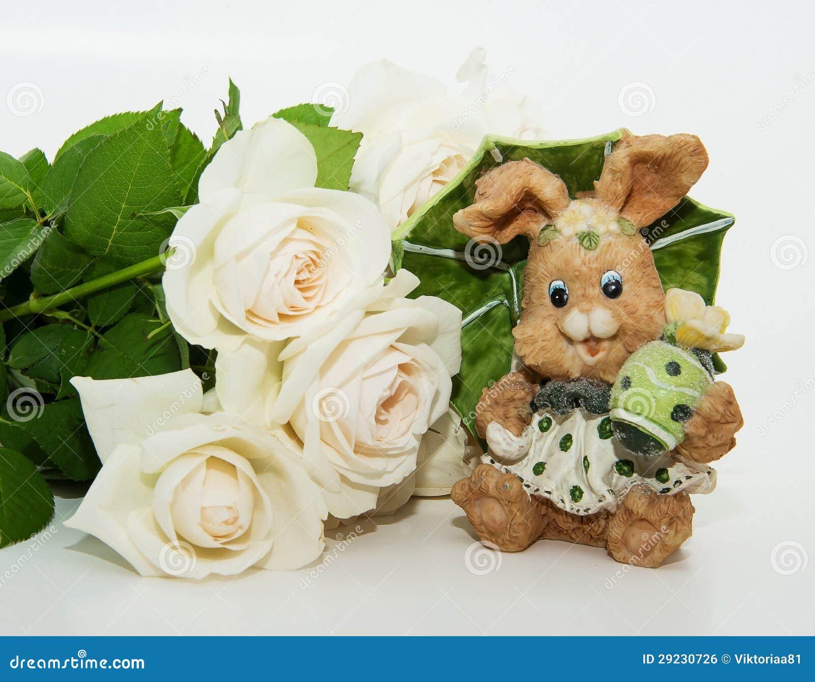 Download Ramalhete Das Rosas Com Lebre De Easter Foto de Stock - Imagem de floral, bouquet: 29230726