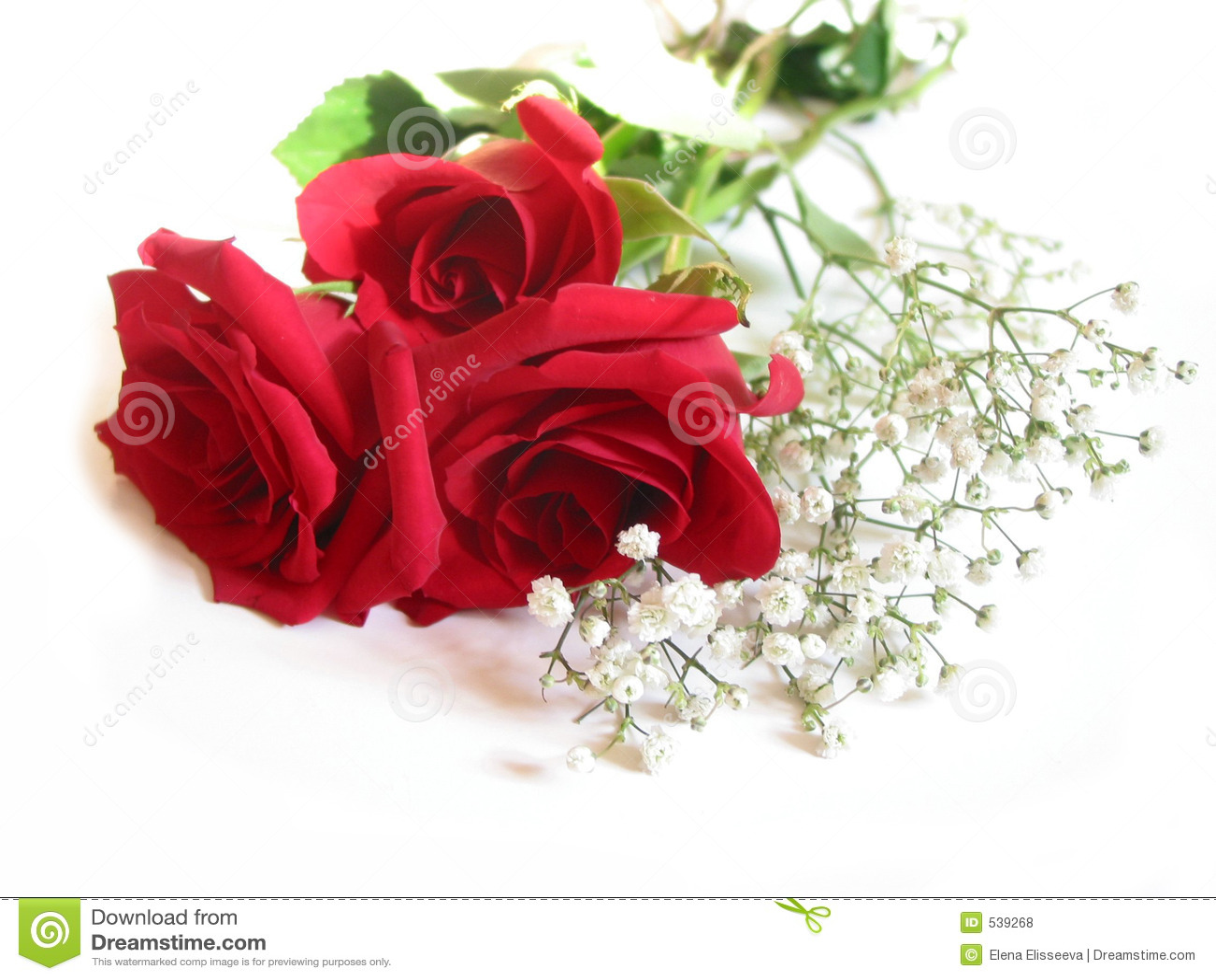 Ramalhete de Rosa no branco