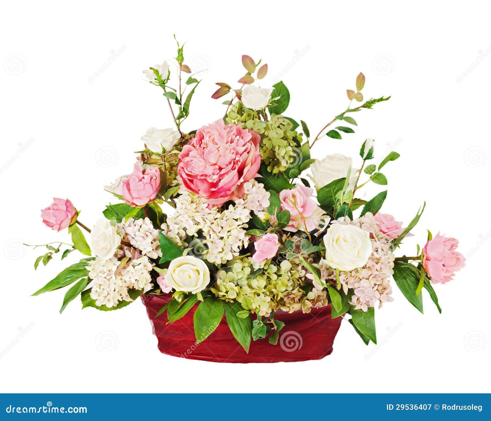 Ramalhete do arranjo das rosas e dos cravos-da-índia
