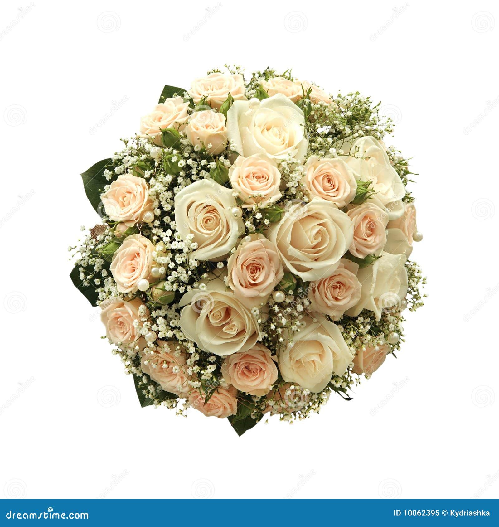 Ramalhete do casamento isolado no branco