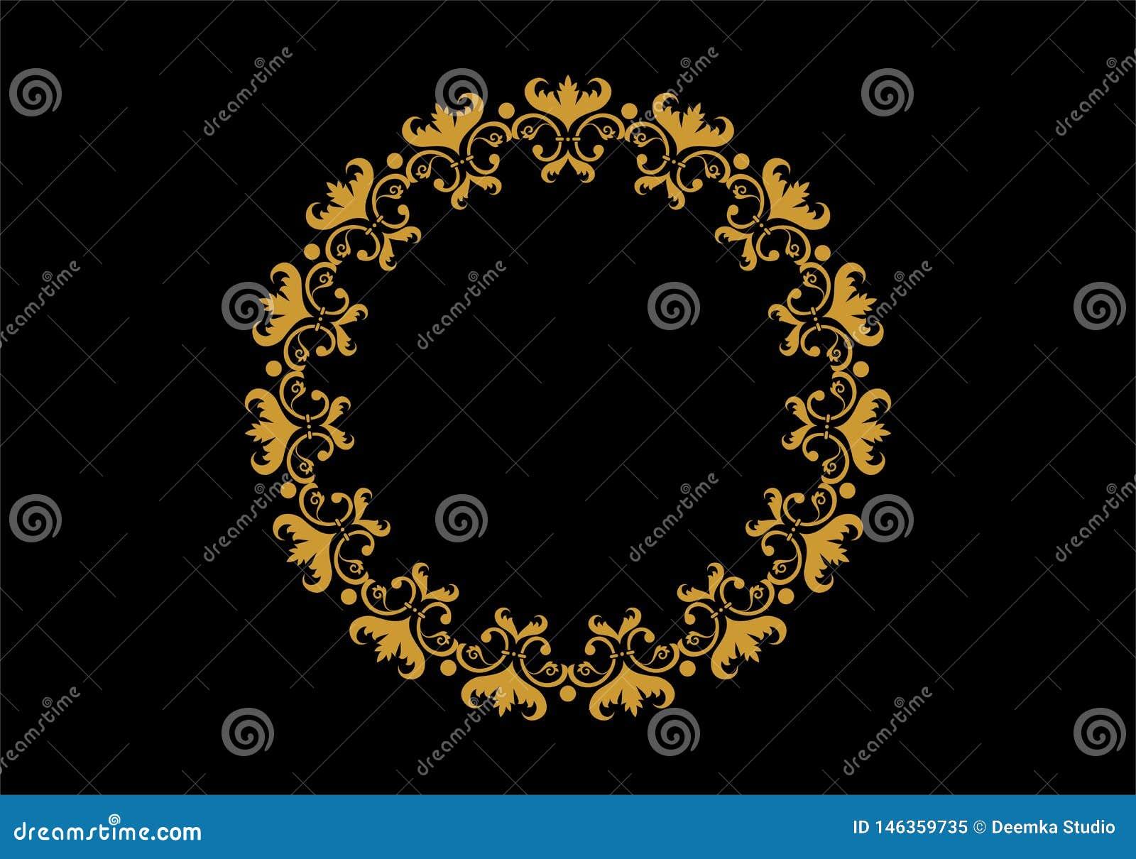 Ramar f?r cirkel f?r vektordiagram Kransar f?r designen, logomall