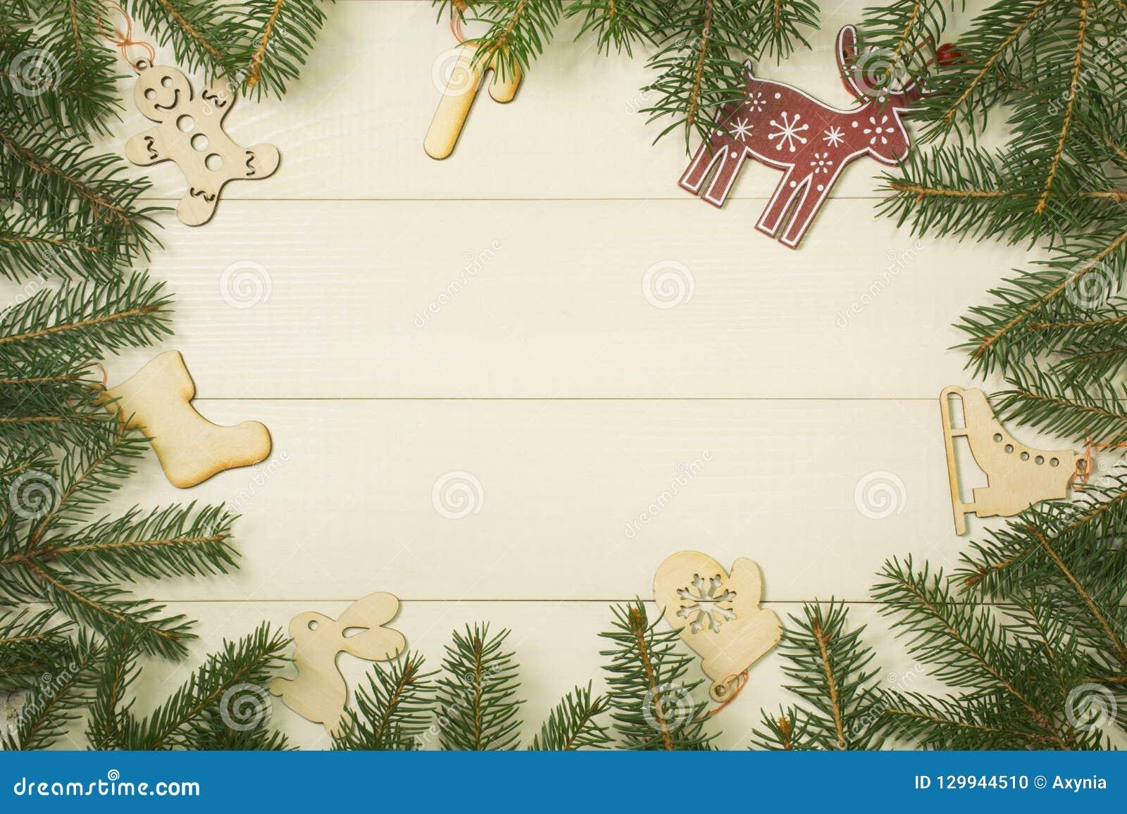 Marcos Para Fotos De Arbol De Navidad.Ramas Del Marco Del Arbol De Navidad Y Juguetes De La