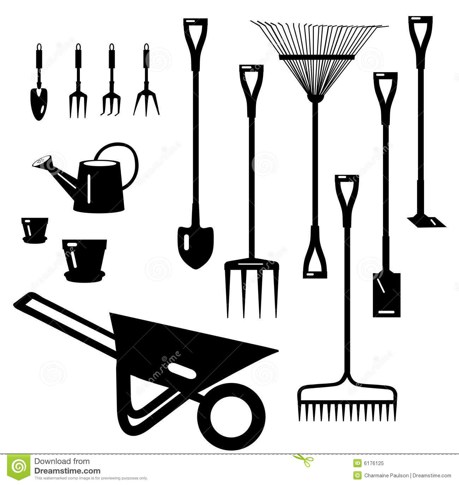 ramassage d 39 outils de jardin illustration de vecteur illustration du groupe amical 6176125. Black Bedroom Furniture Sets. Home Design Ideas
