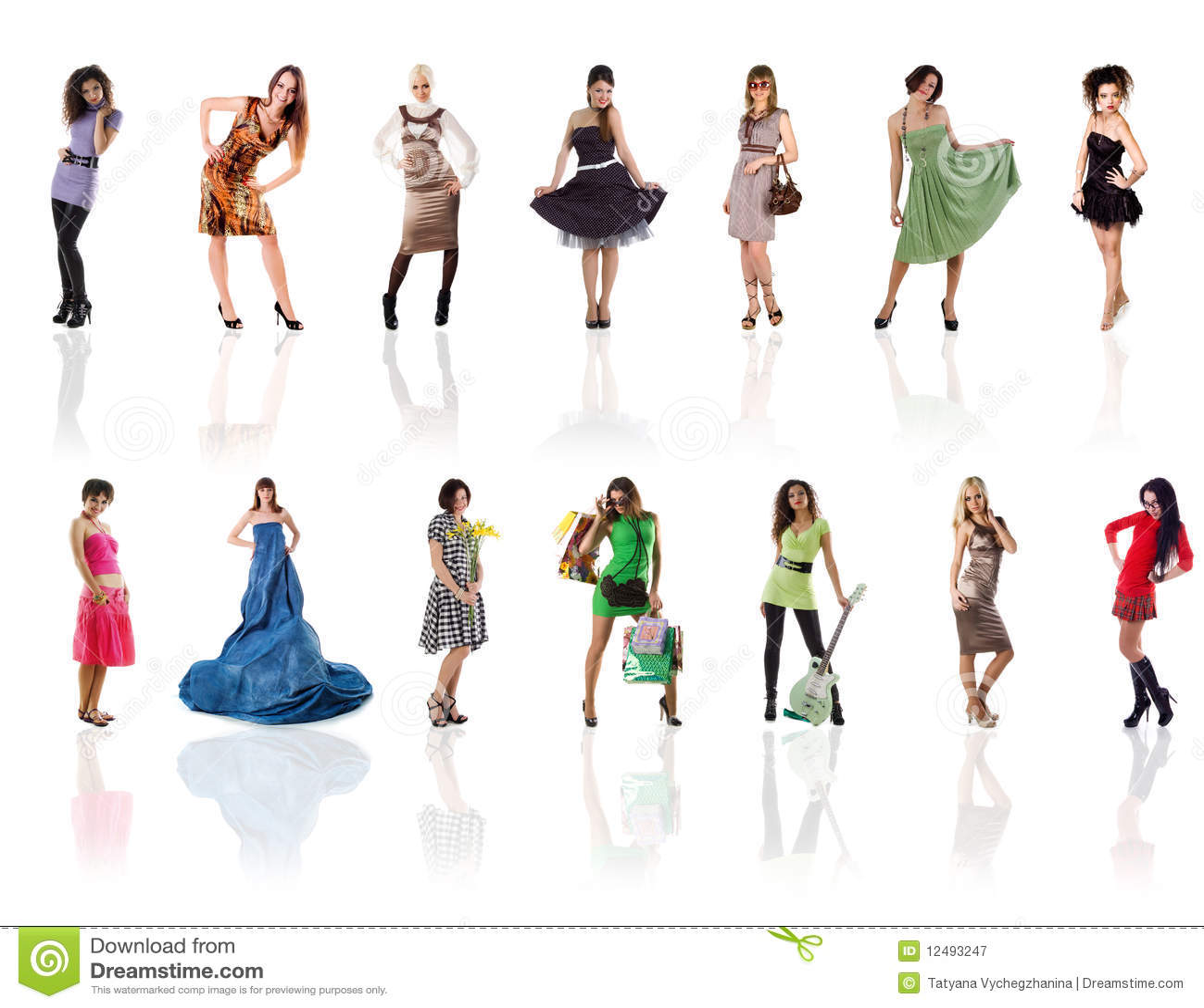 Ramassage de belles photos d un femme sur le blanc