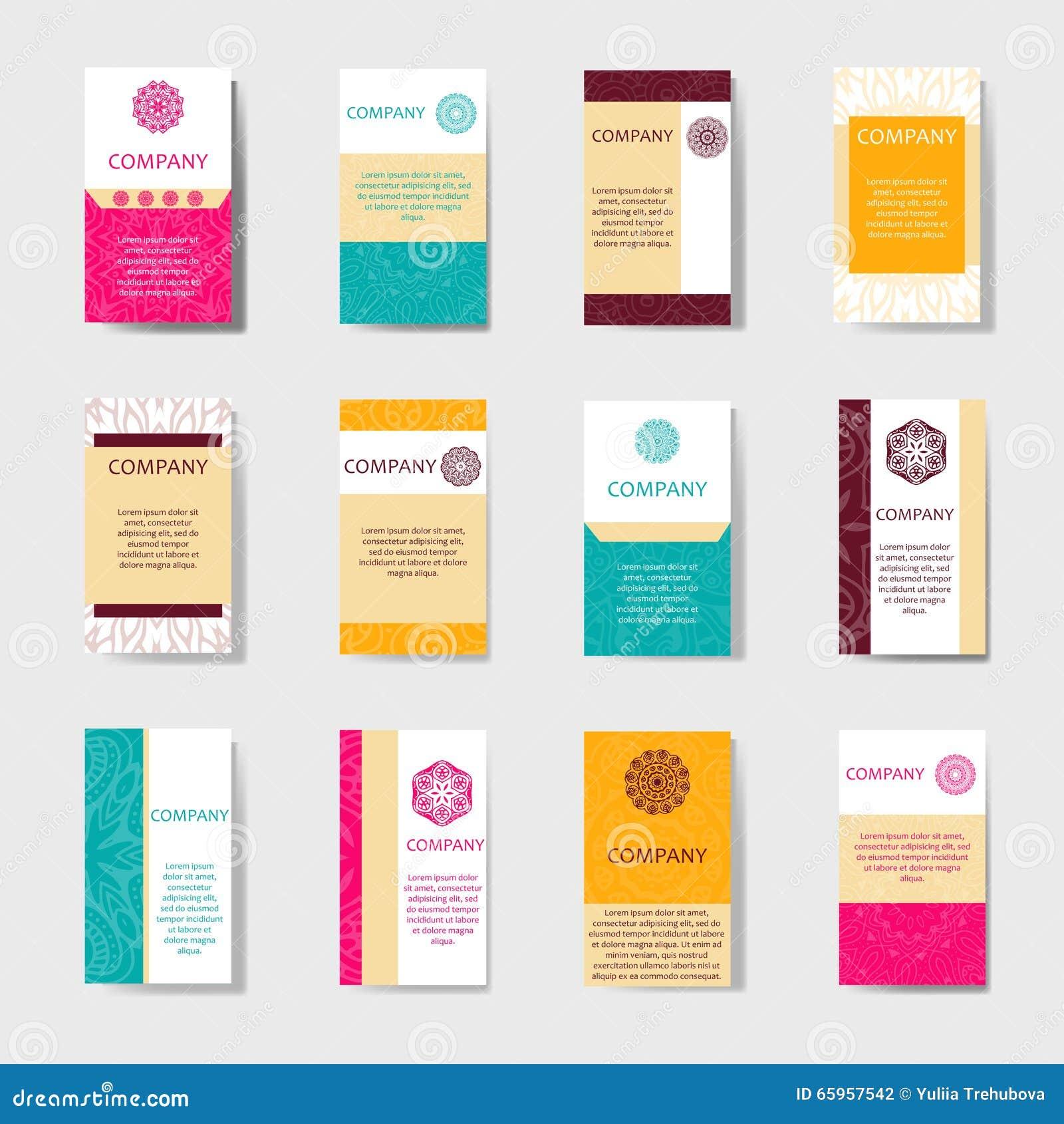 Ramassage de cartes de visite professionnelle de visite Ornement pour votre conception avec le mandala de dentelle Fond de vecteu