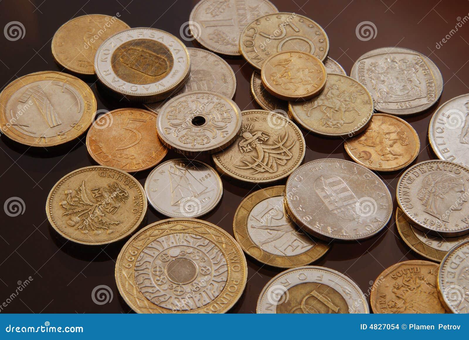 Ramassage de pièces de monnaie