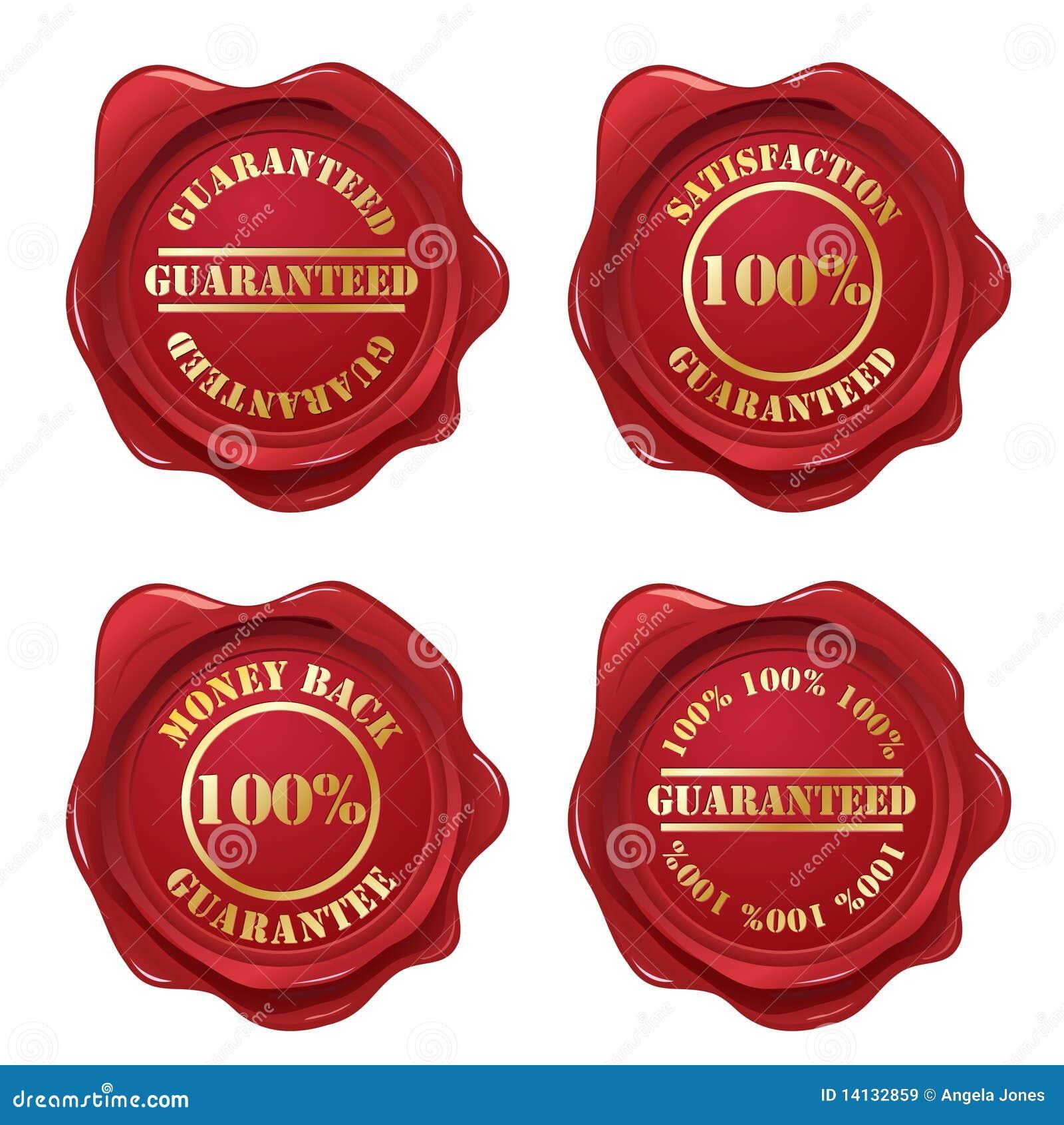 Ramassage de sceau de cire de garantie