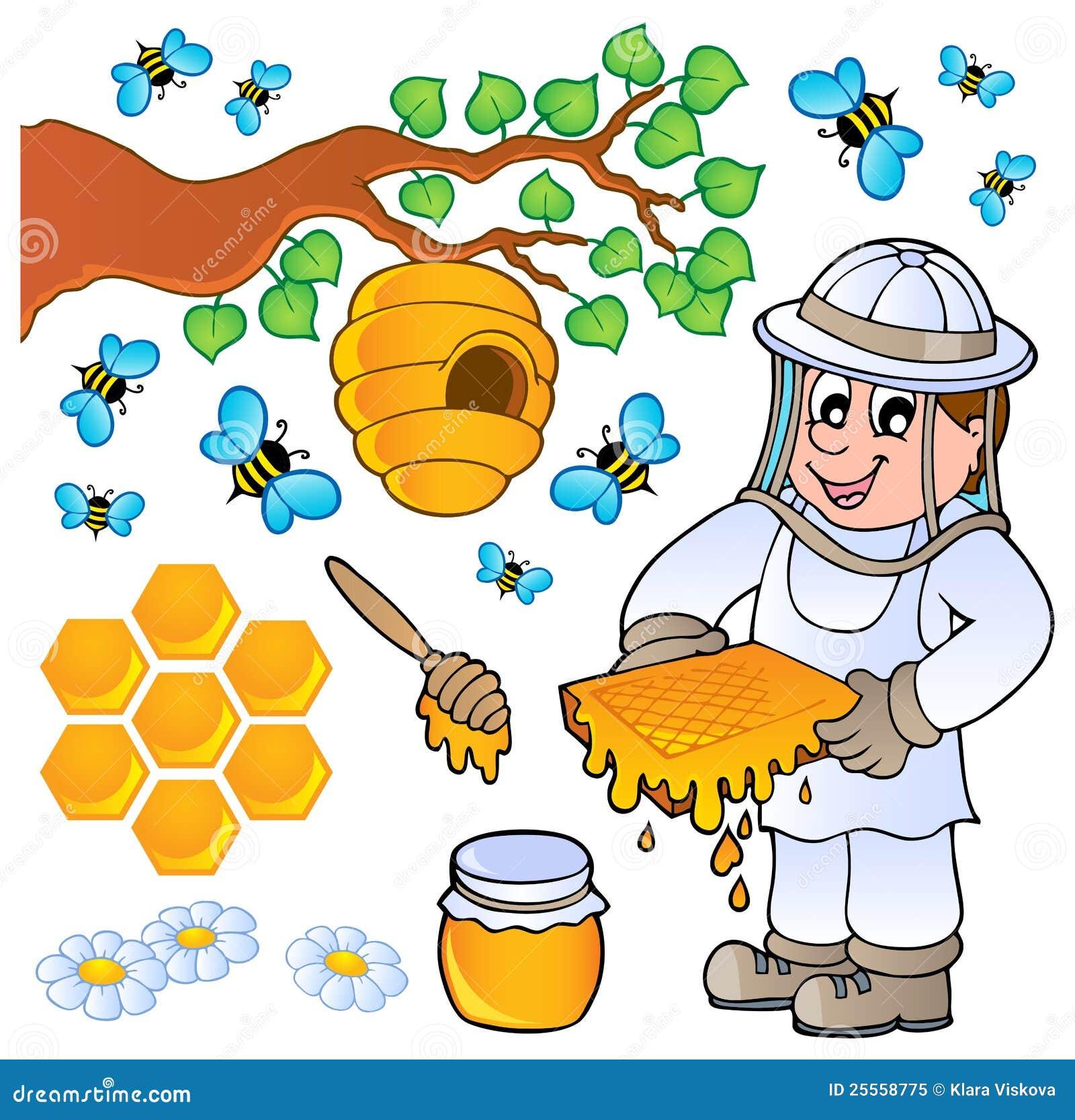 Ramassage de thème d abeille de miel