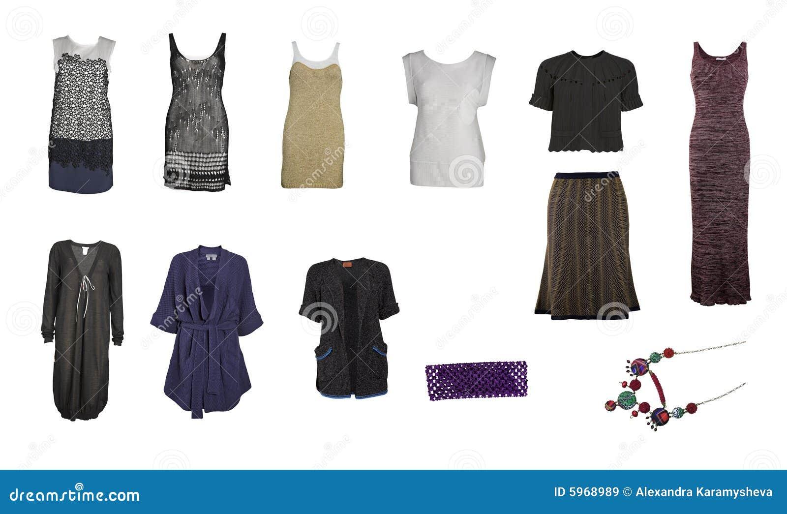 Ramassage de vêtements et d accessoires tricotés