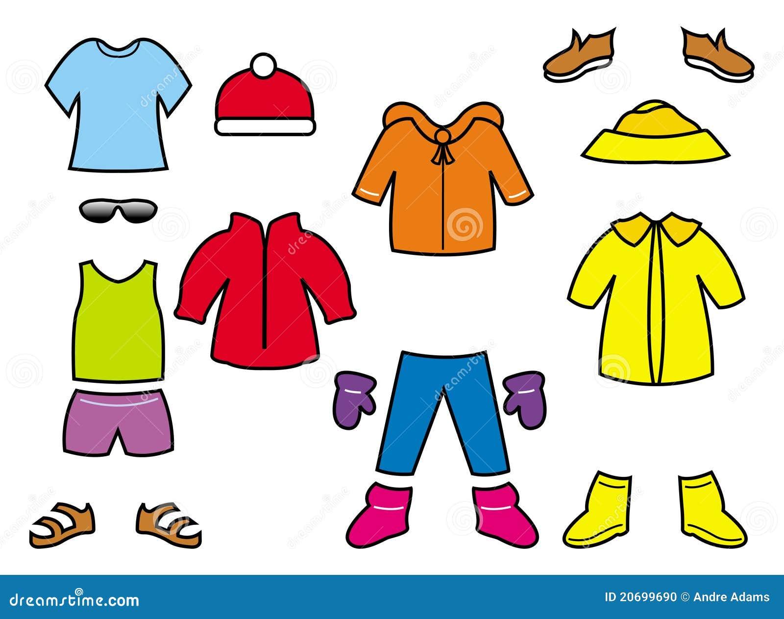 Ramassage Des Vêtements Des Enfants Photo stock  Image