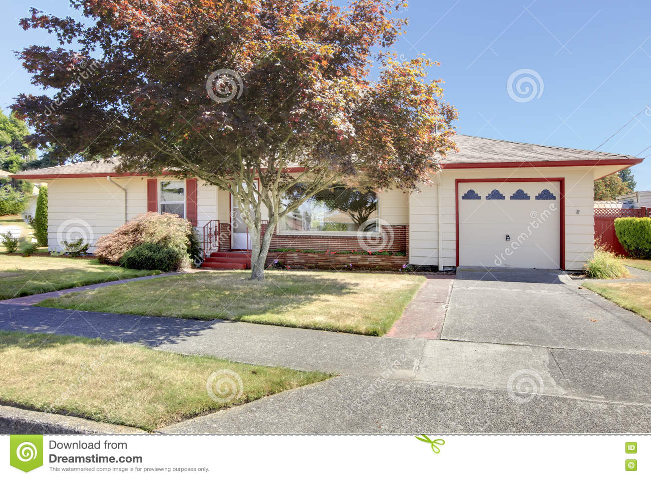 rambler exterior old simple american house stock photo image