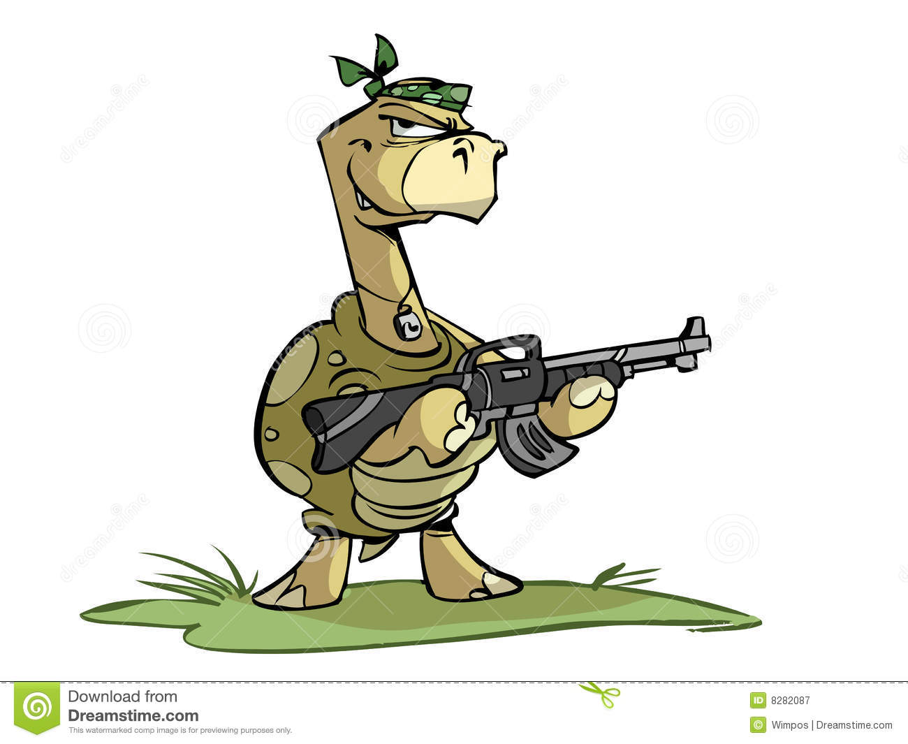 rambo turtle royalty free stock photography