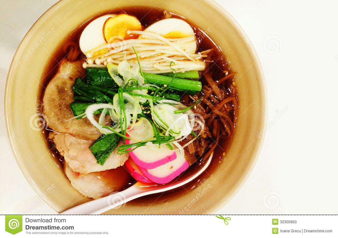 Ramen stock photo image of japanese dish soba choy for Authentic japanese cuisine