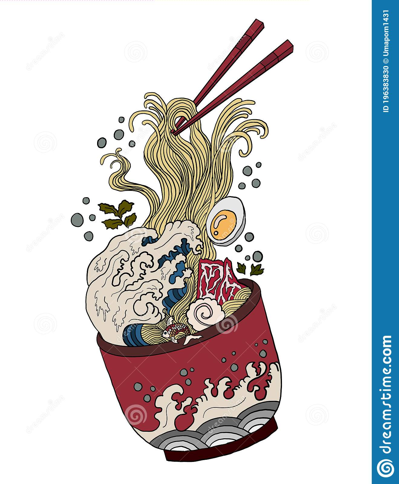 Ramen Vector Illustration For Doodle Art Stock Vector Illustration Of Icon Menu 196383830