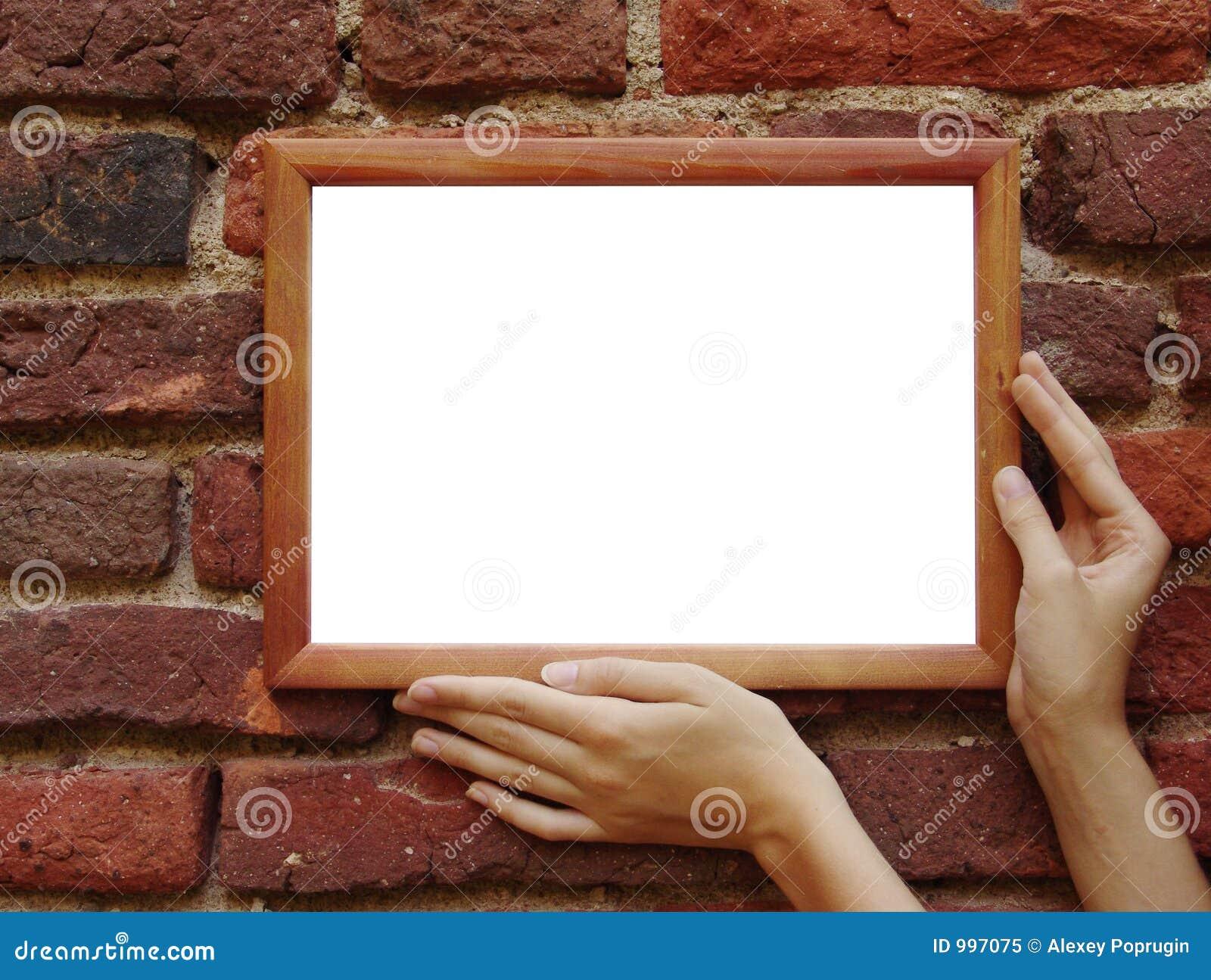 Ramgrunge hands väggen