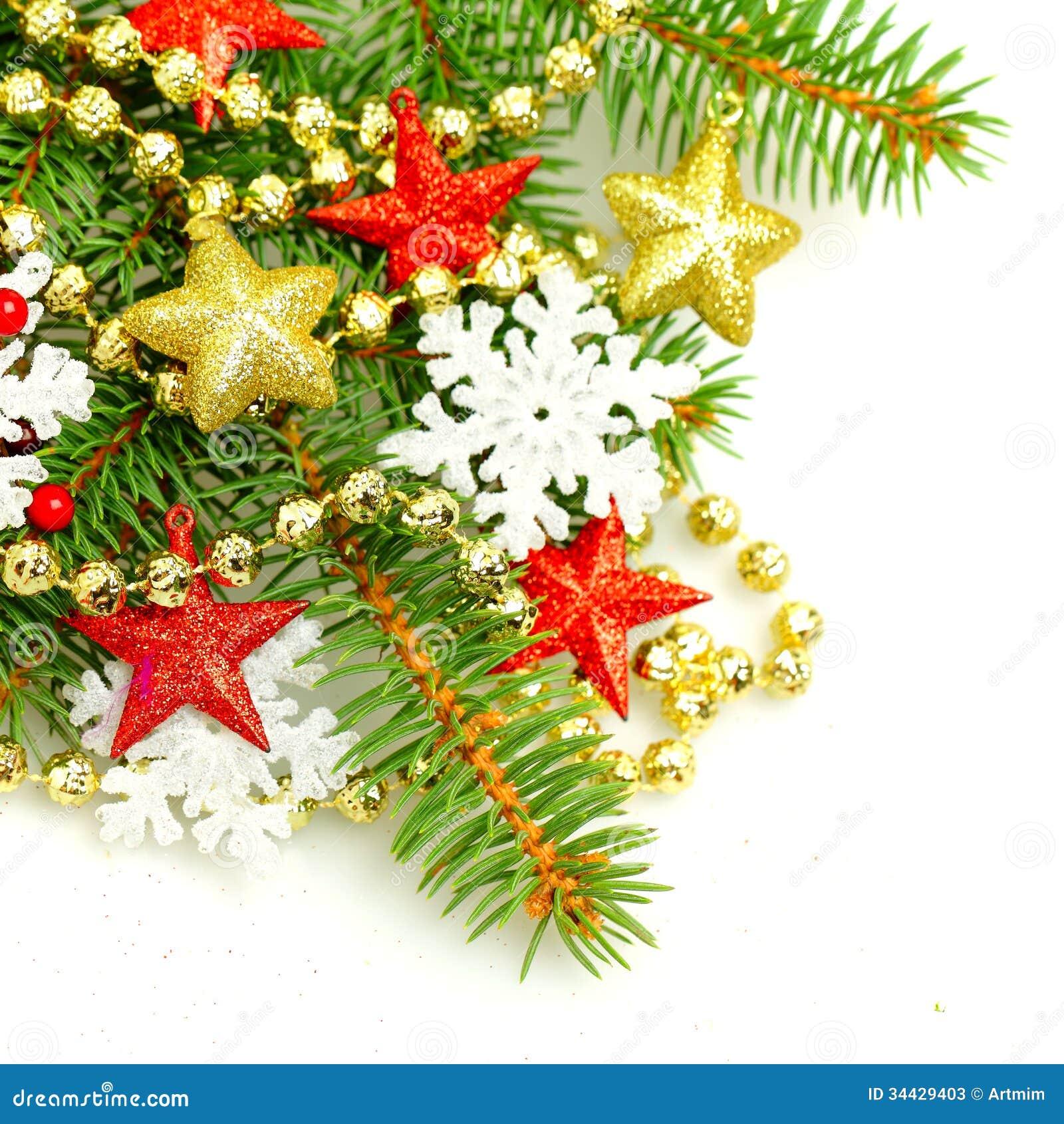 Ramita del rbol de abeto de la navidad fondo de las - Decoraciones del arbol de navidad ...