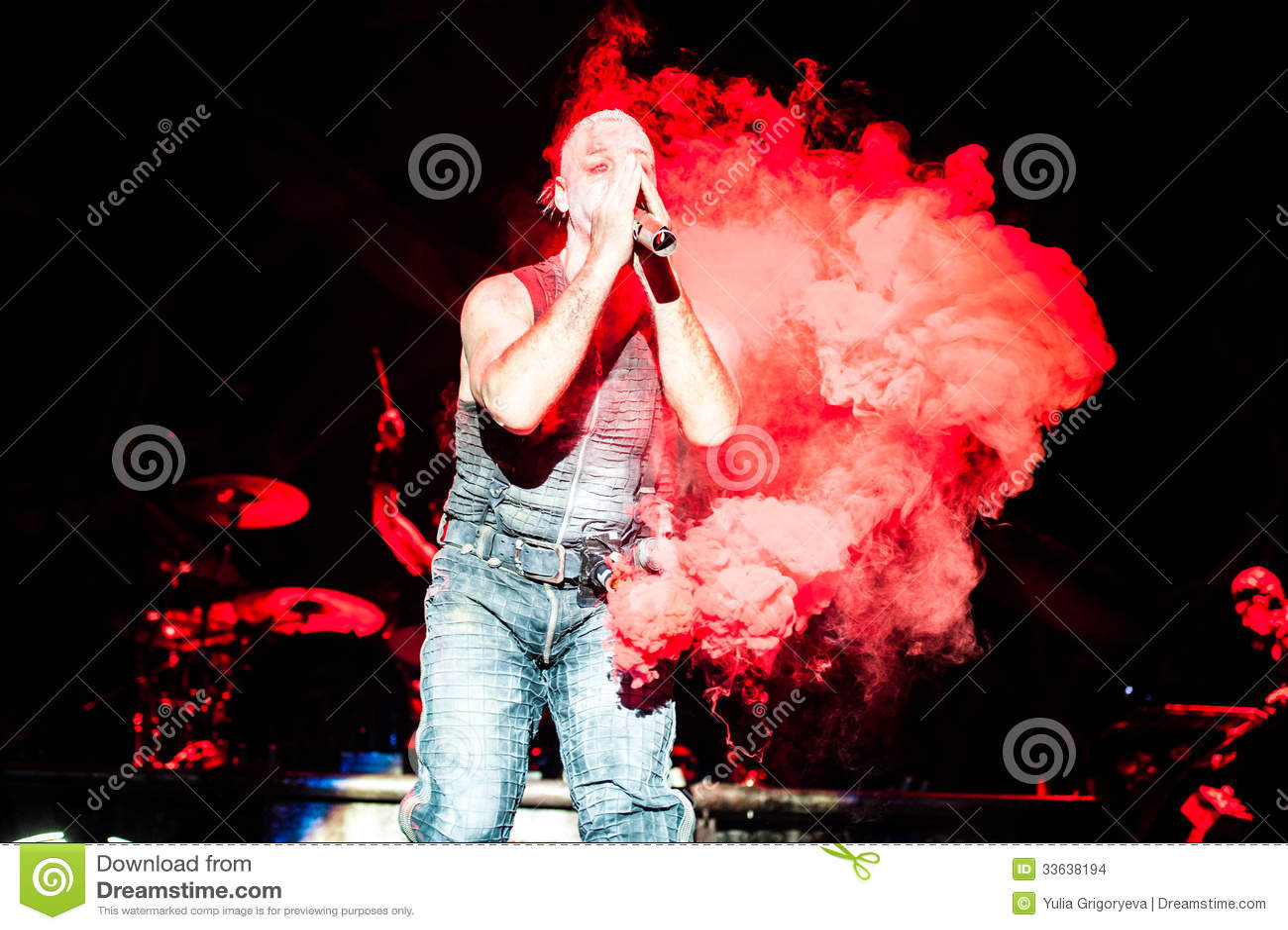 Rammstein concert editorial stock image  Image of rock