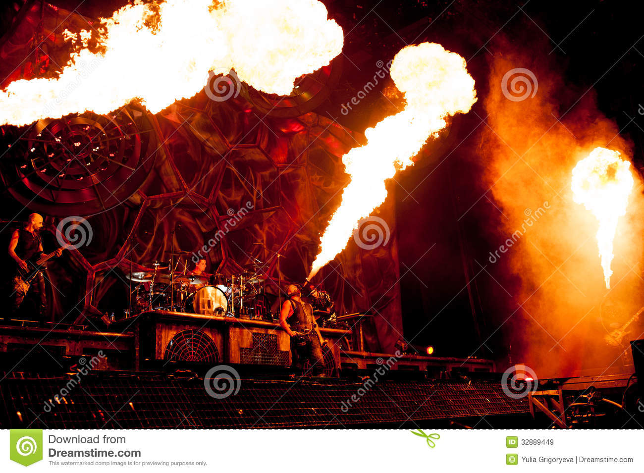 rammstein concert editorial stock image image of germany 32889449. Black Bedroom Furniture Sets. Home Design Ideas