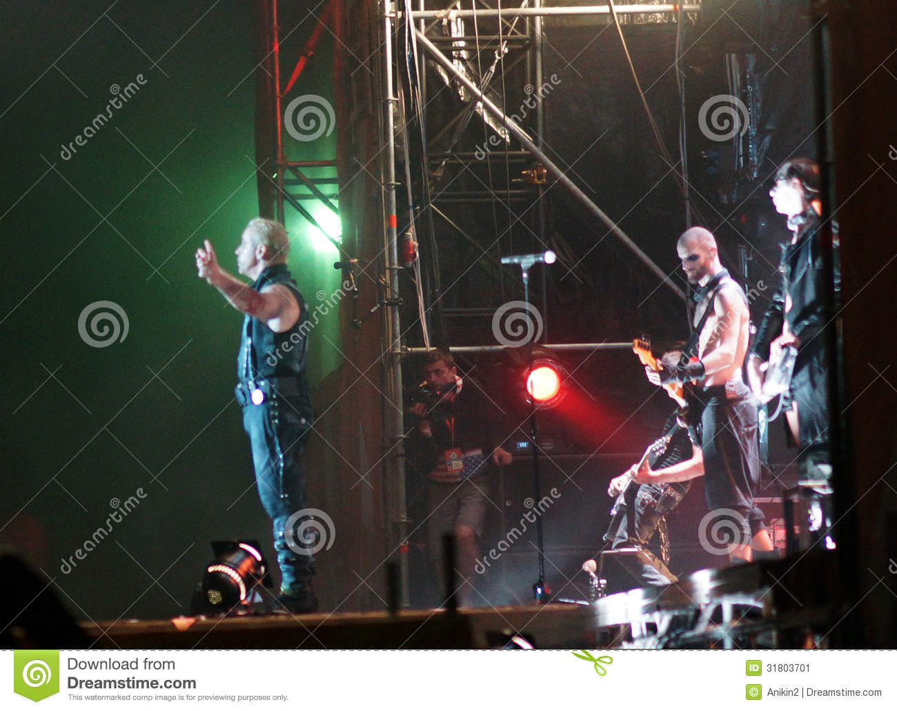 Rammstein editorial photo  Image of rock, event, dance