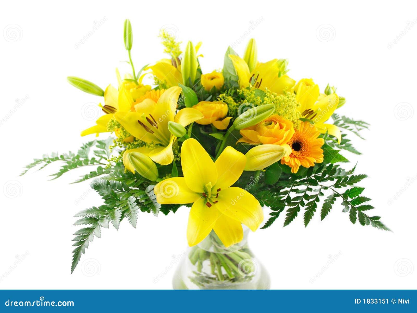 Ramo amarillo de los lirios