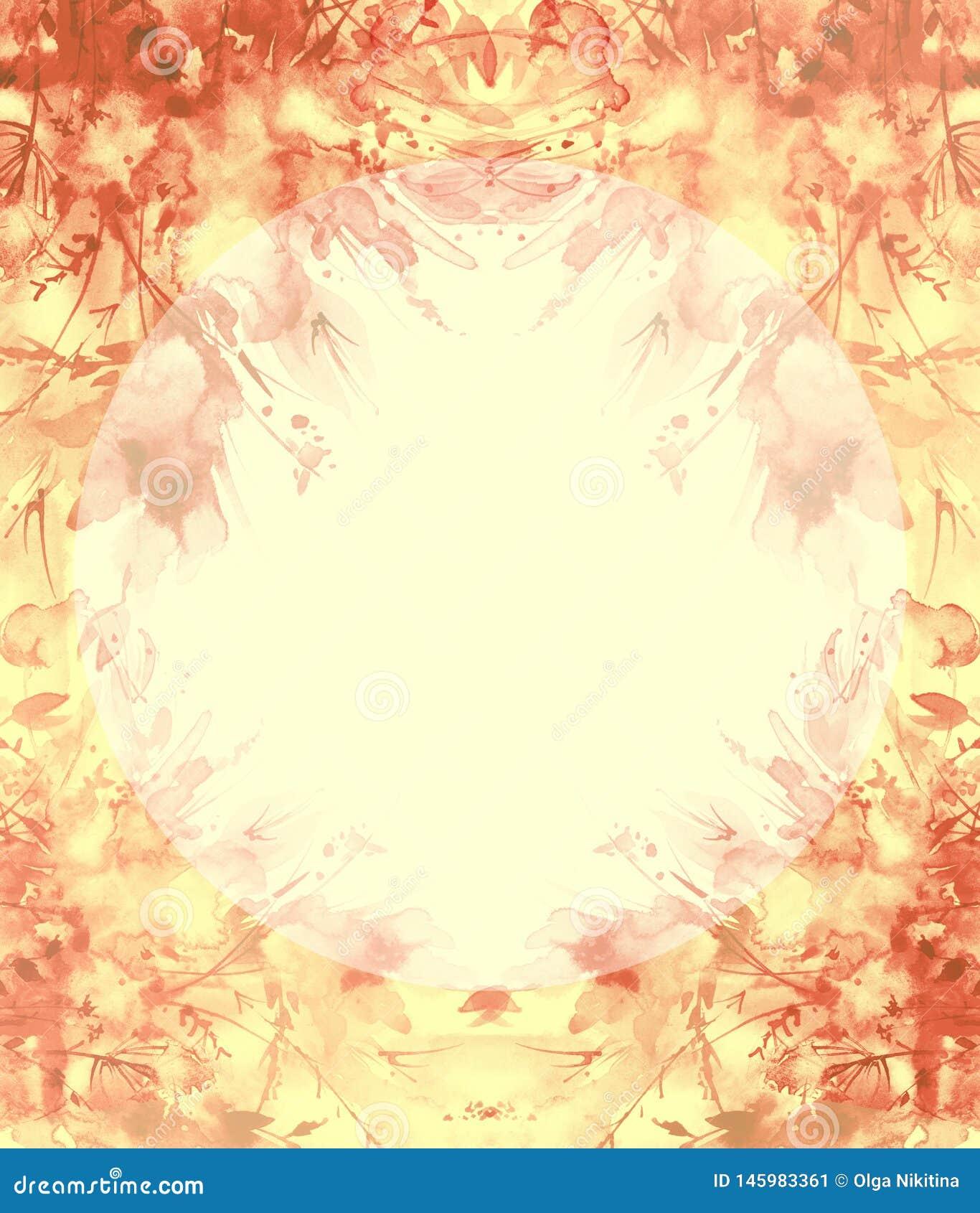 Ramo de flores, chapoteo abstracto hermoso de la acuarela de la pintura, ejemplo de la moda Flores de la orqu?dea, amapola, acian
